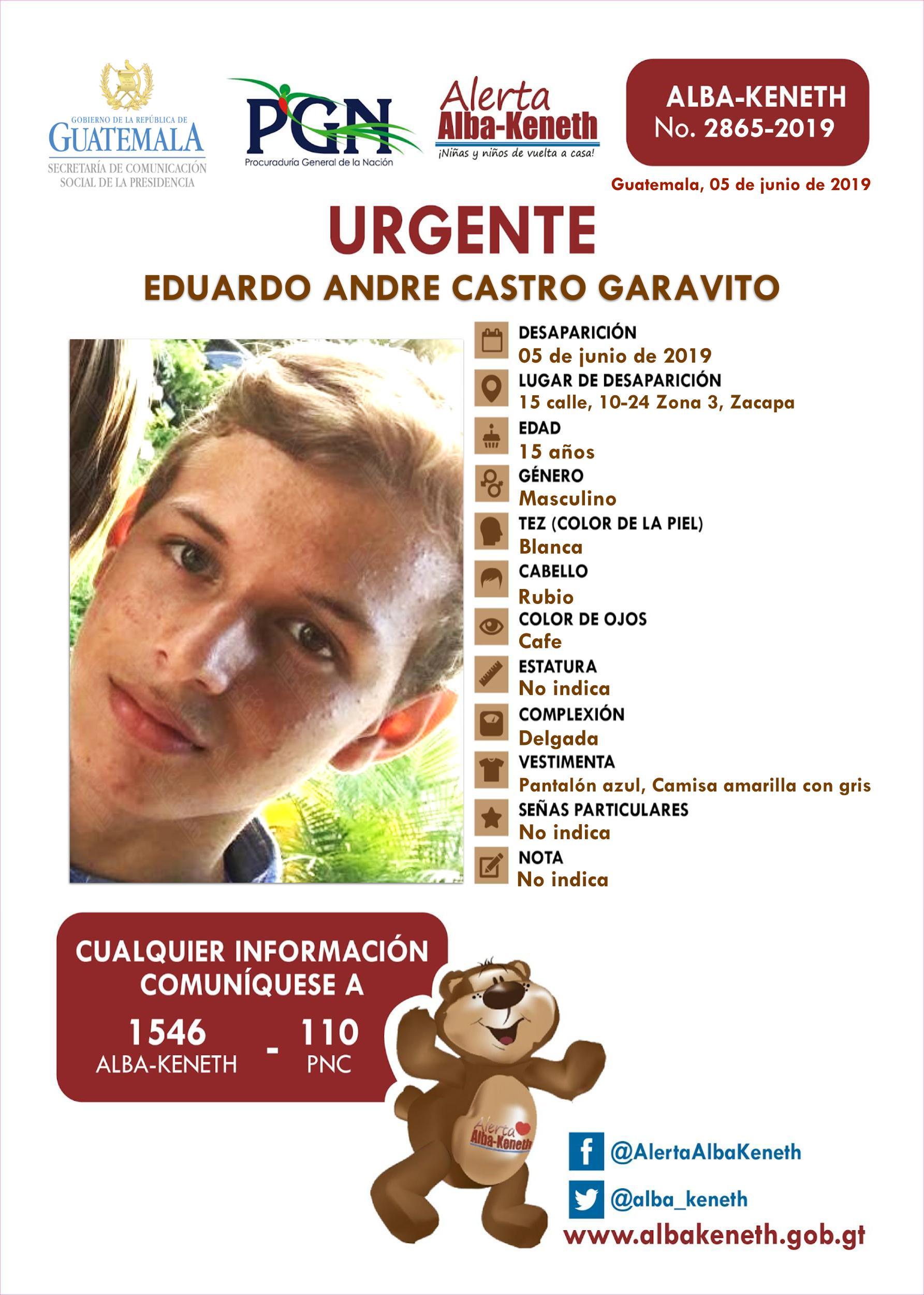 Eduardo Andre Castro Garavito