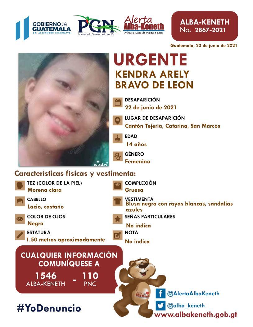 Kendra Arely Bravo De Leon
