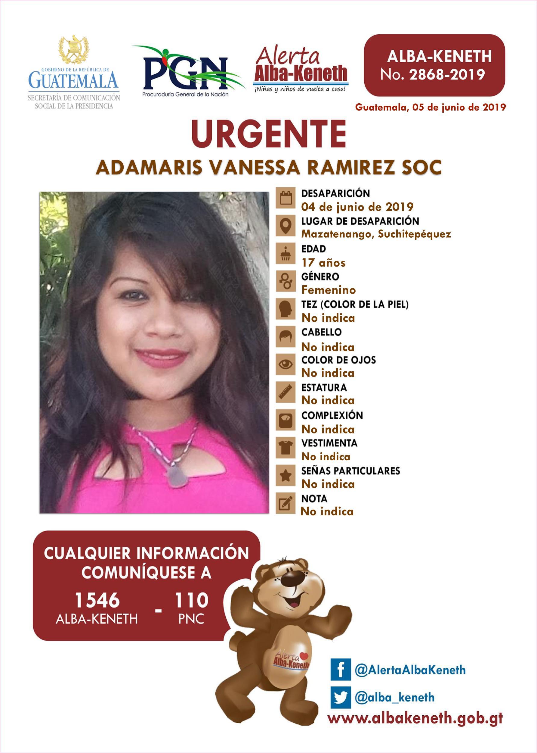 Adamaris Vanessa Ramirez Soc