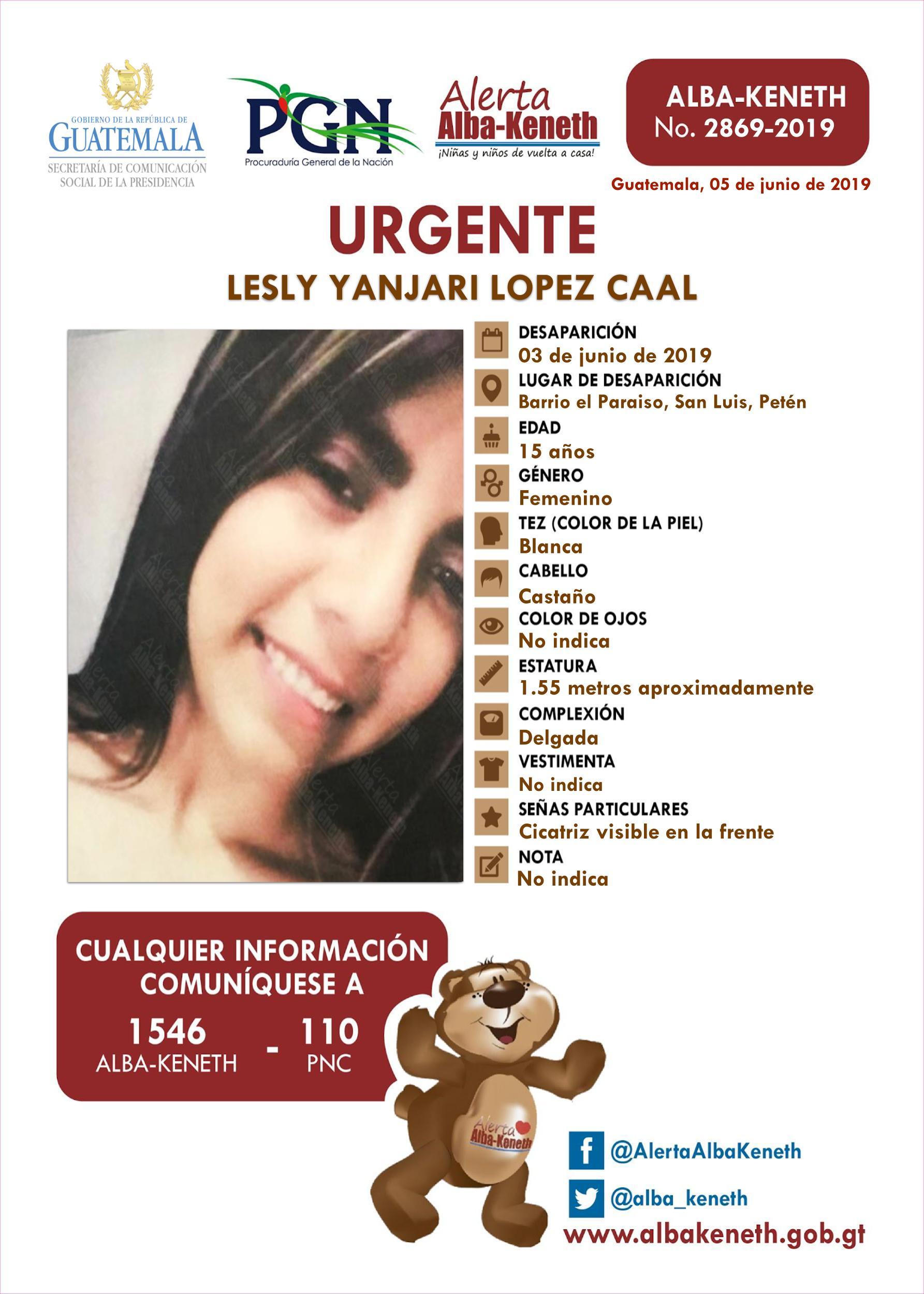 Lesly Yanjari Lopez Caal