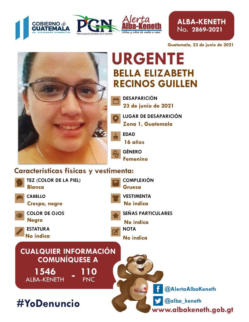 Bella Elizabeth Recinos Guillen