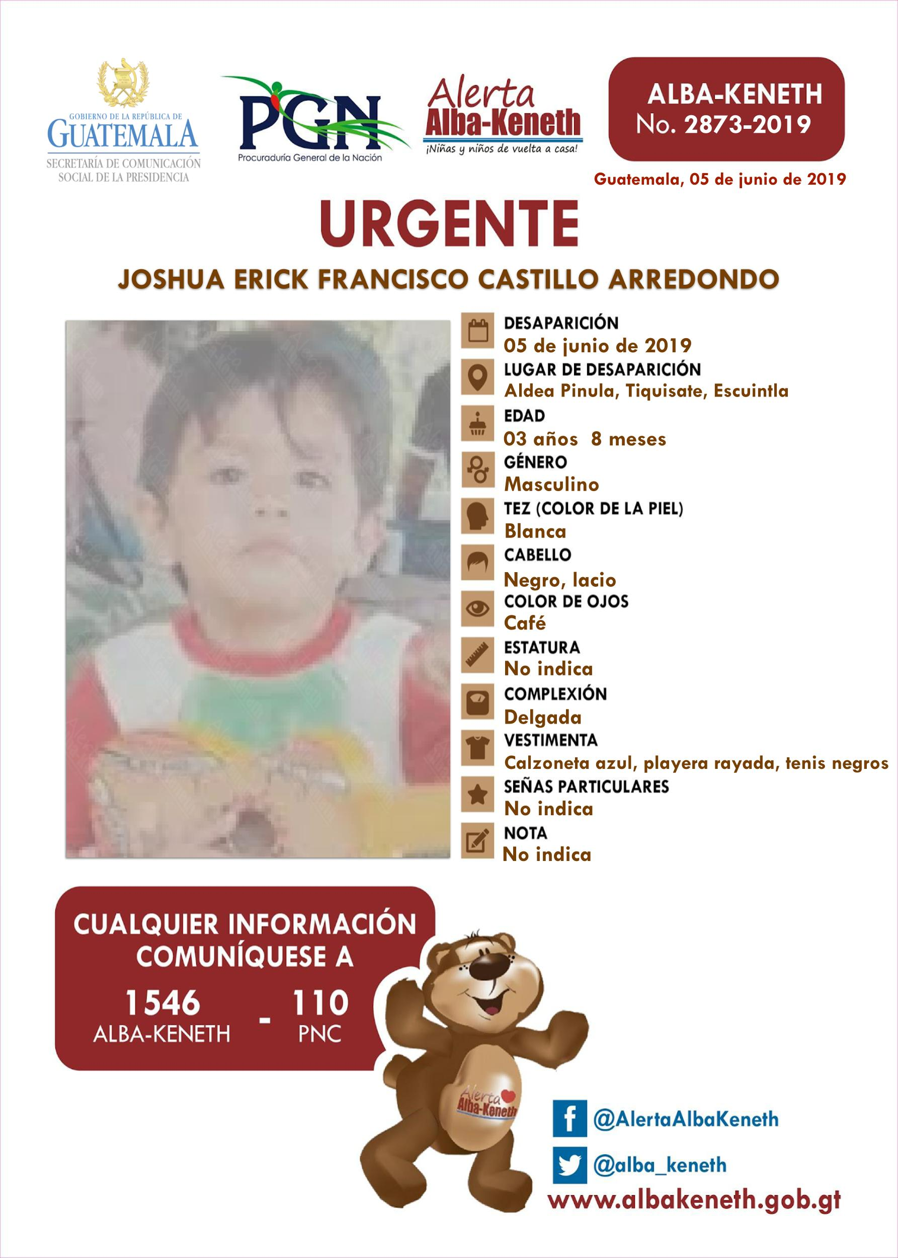 Joshua Erick Francisco Castillo Arredondo