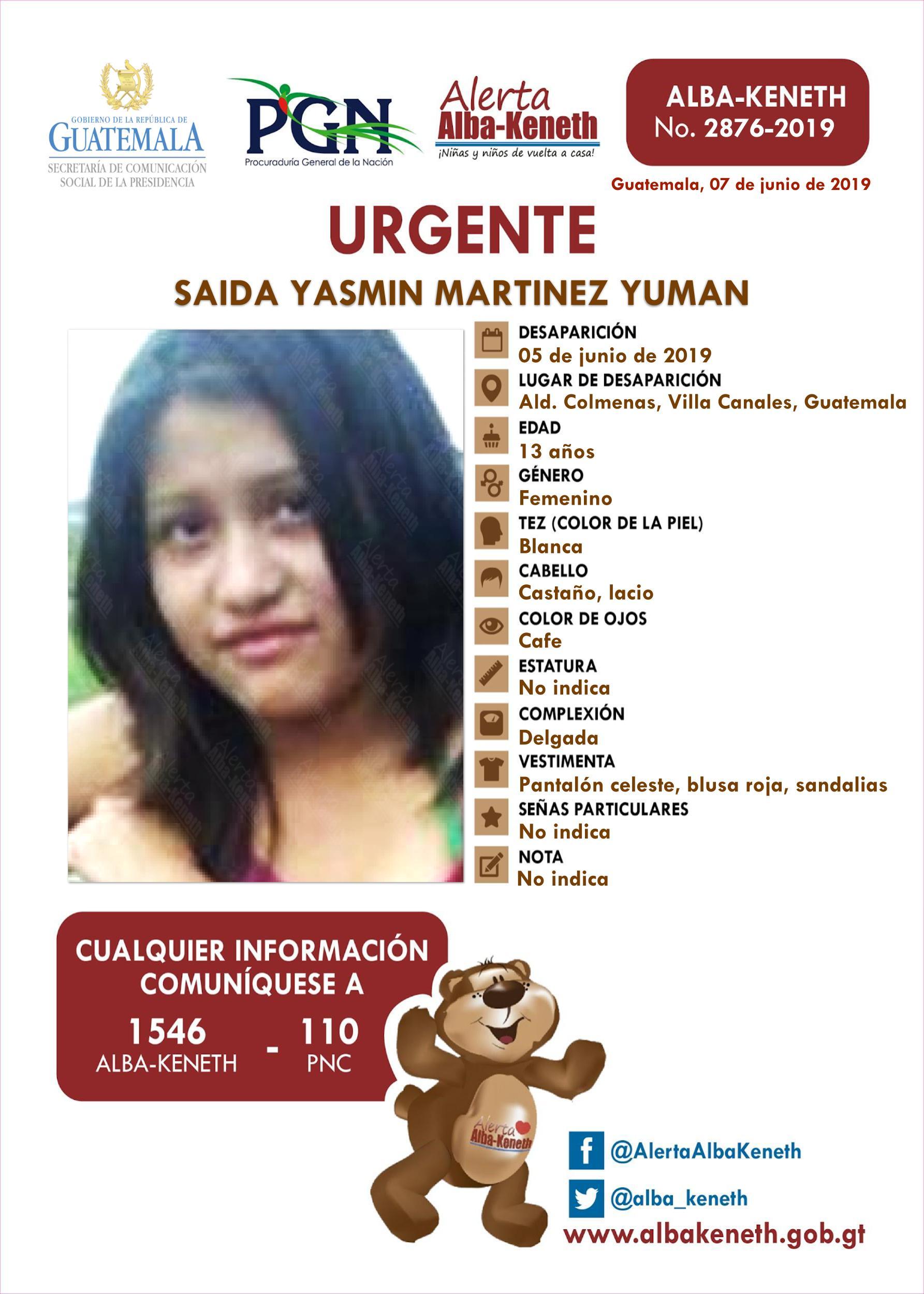 Saida Yasmin Martinez Yuman