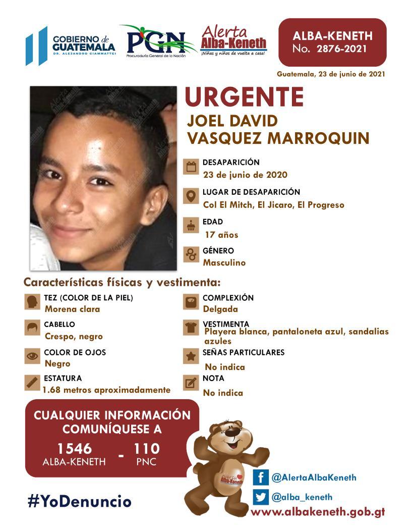 Joel David Vasquez Marroquin