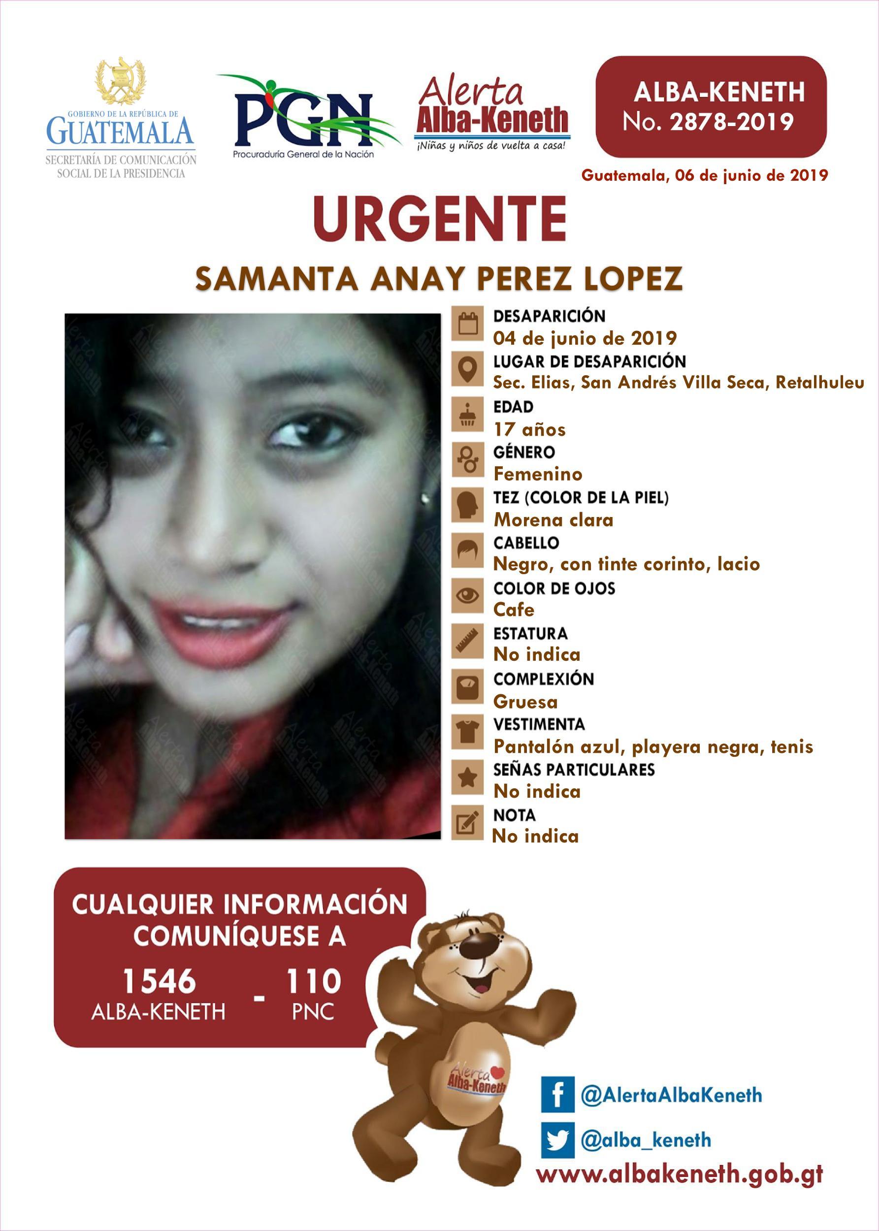 Samanta Anay Perez Lopez