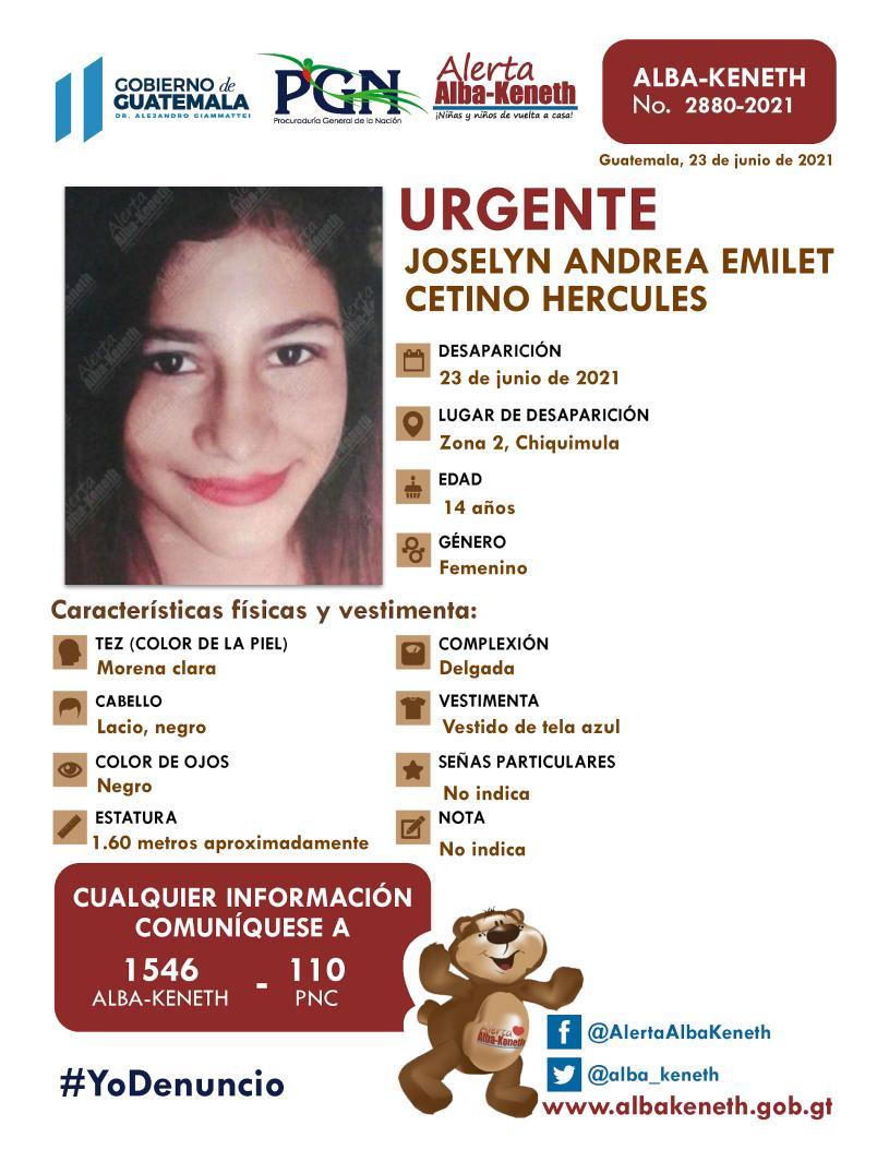Joselyn Andrea Emilet Cetino Hercules