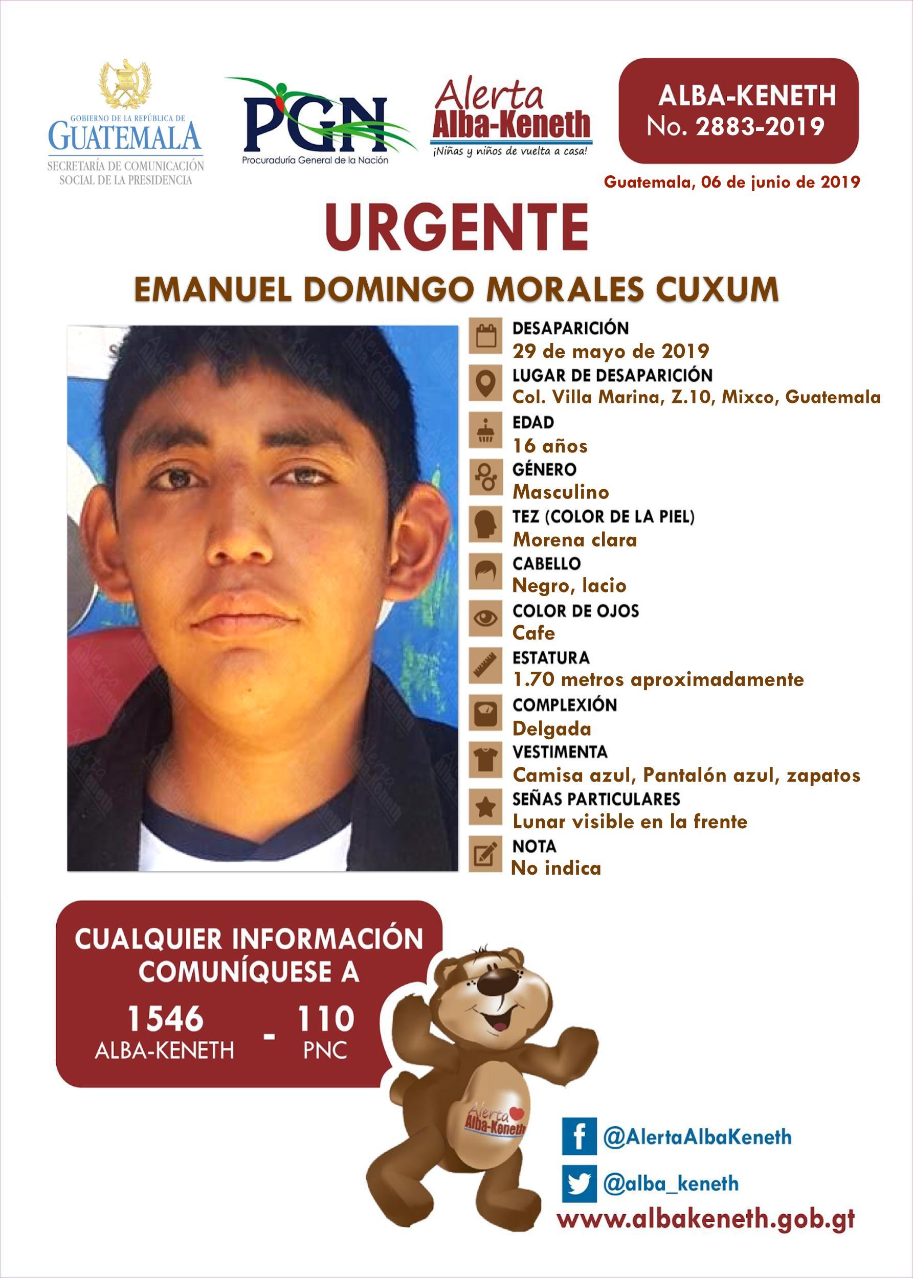 Emanuel Domingo Morales Cuxum