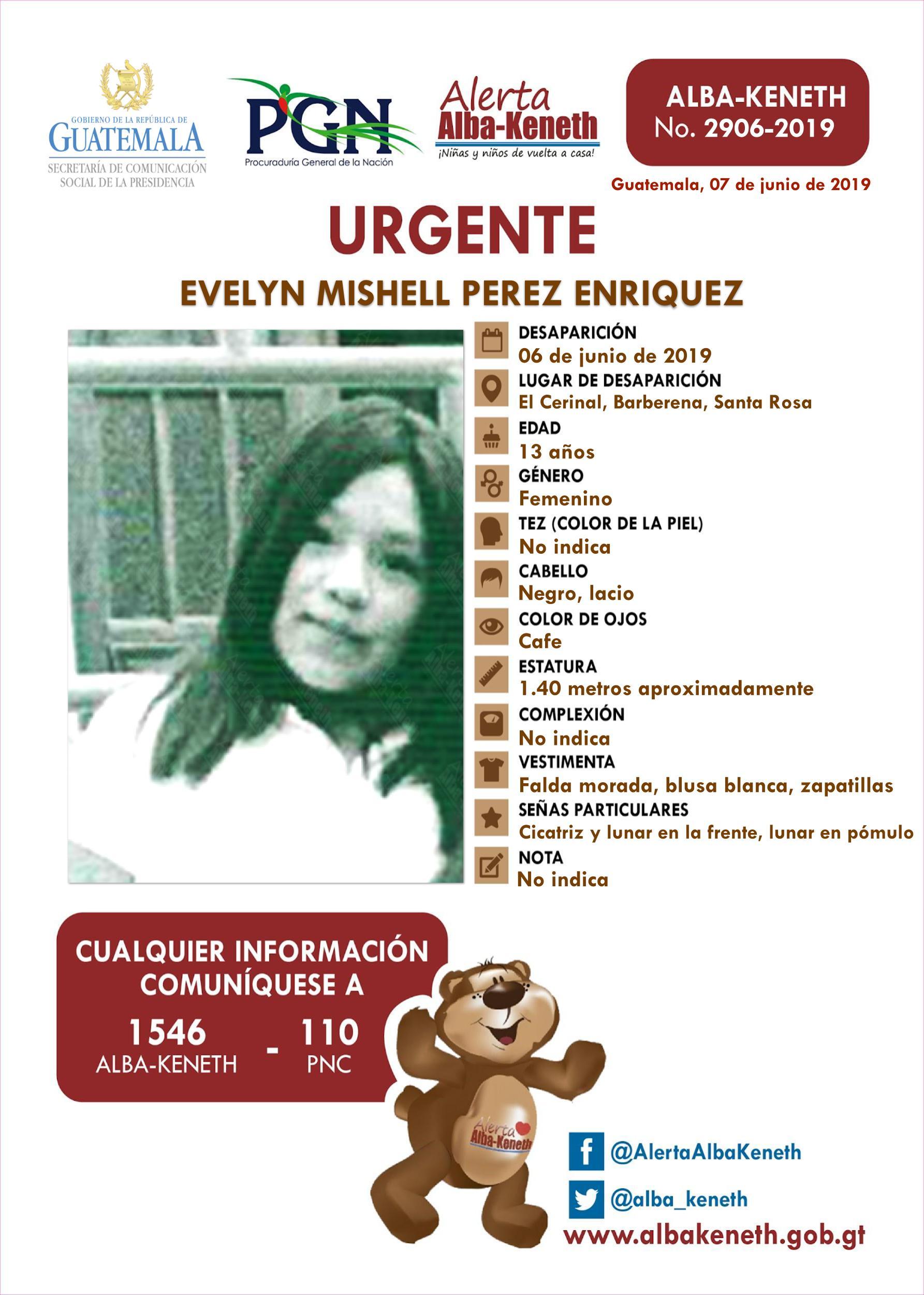 Evelyn Mishell Perez Enriquez