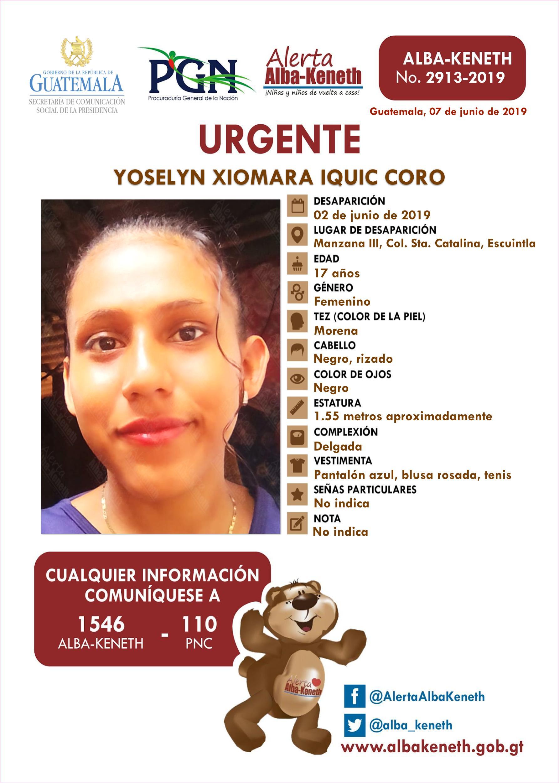 Yoselyn Xiomara Iquic Coro