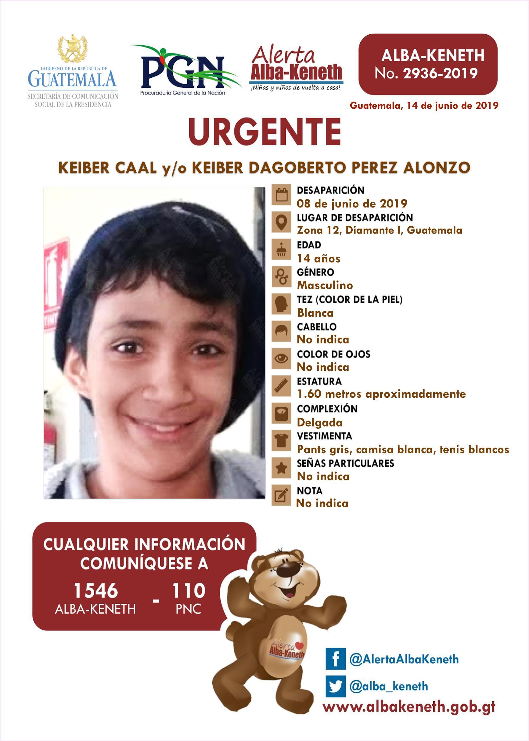 Keiber Caal y/o Keiber Dagoberto Perez Alonzo