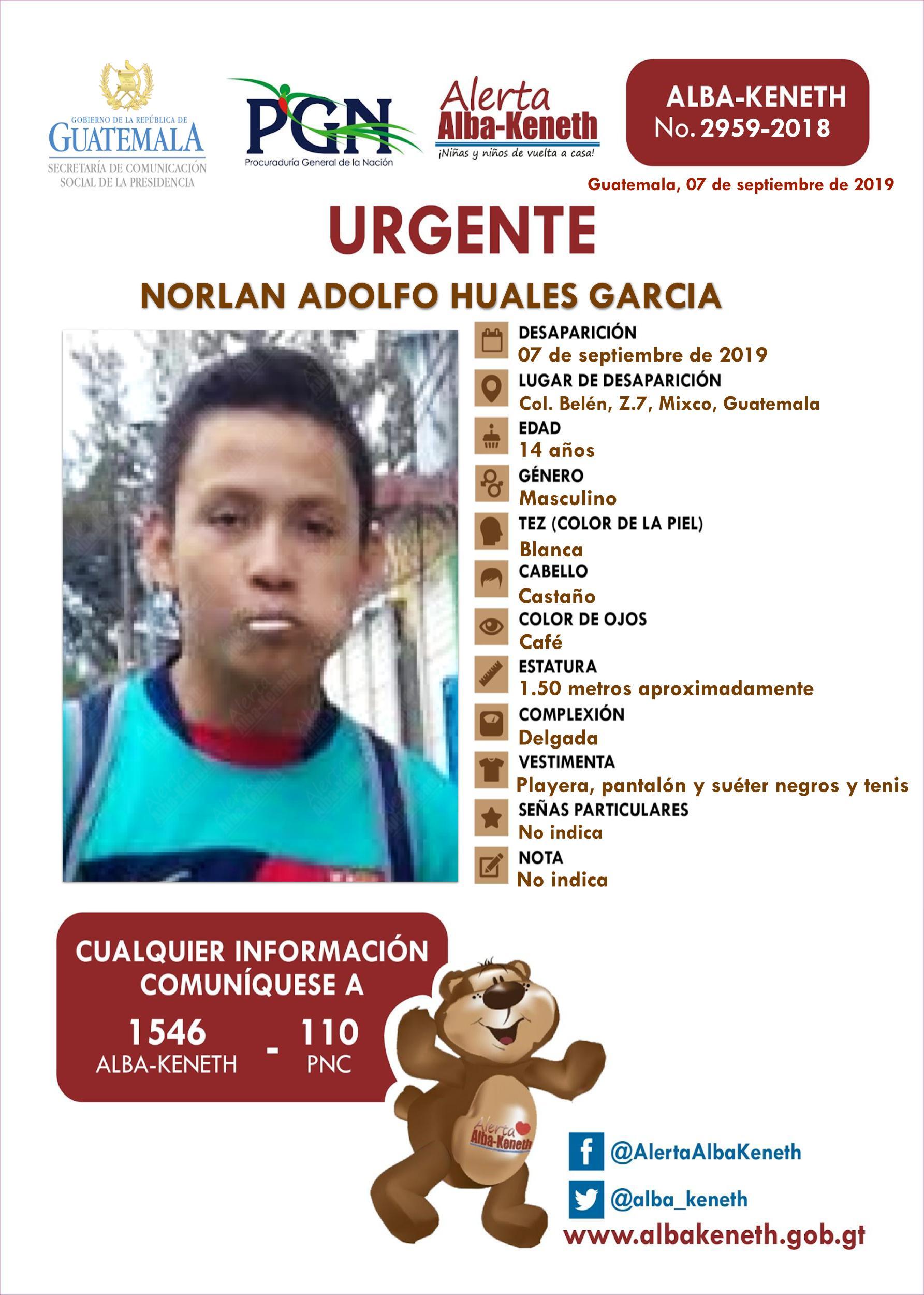 Norlan Adolfo Huales Garcia