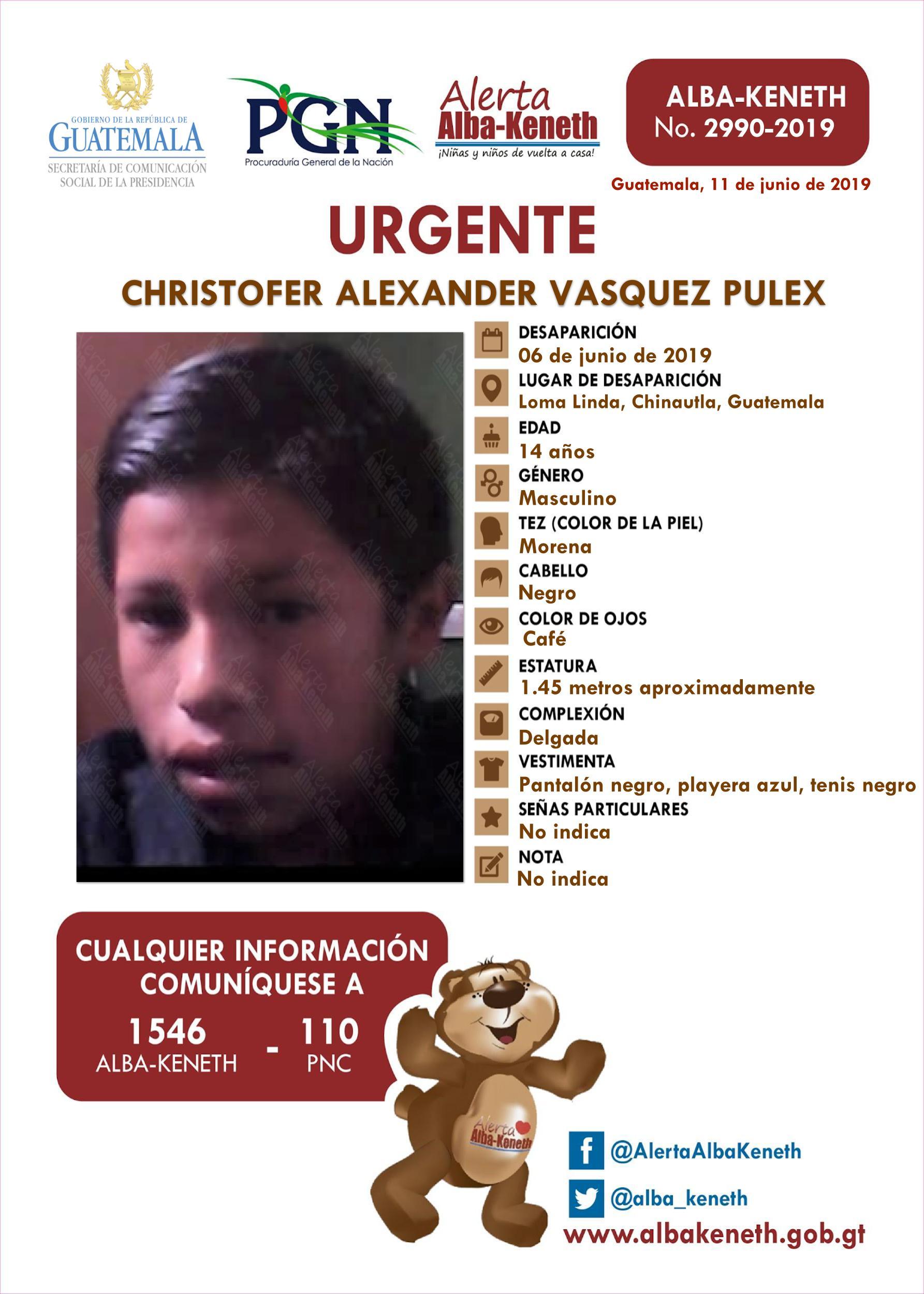 Christofer Alexander Vasquez Pulex