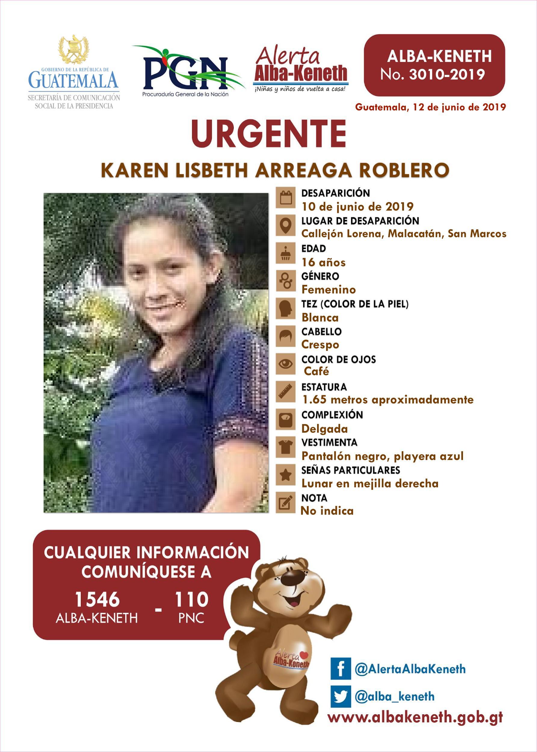 Karen Lisbeth Arreaga Roblero