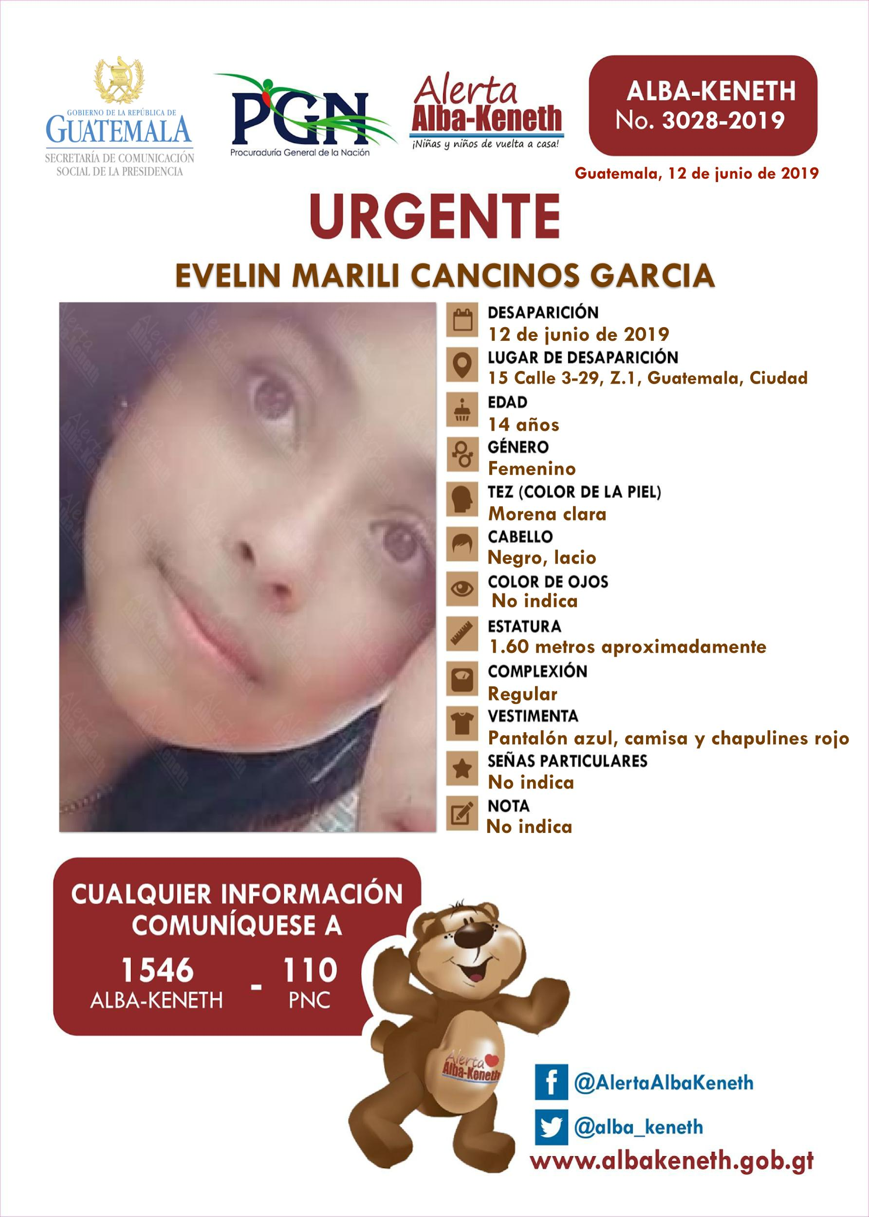 Evelin Marili Cancinos Garcia
