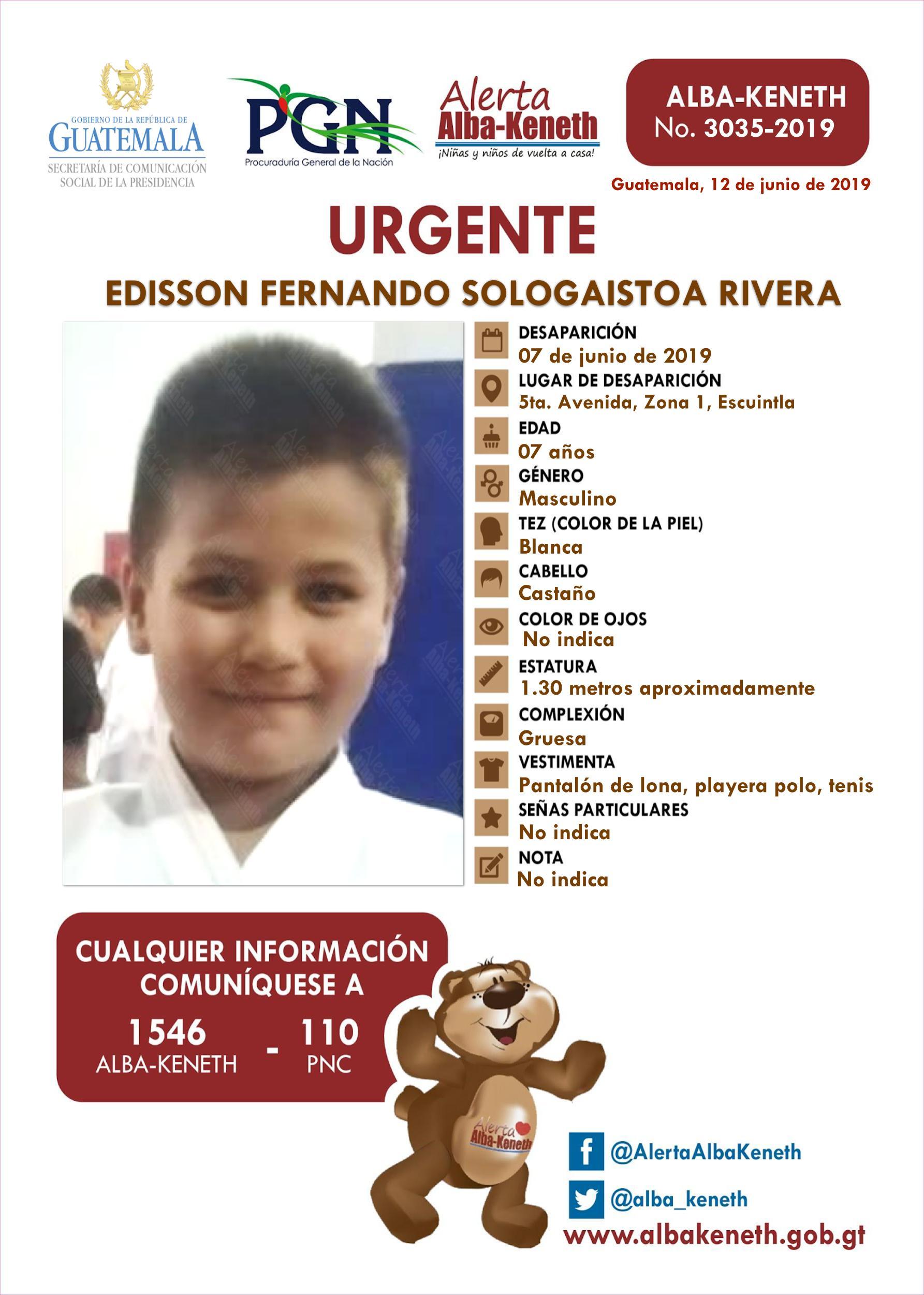 Edisson Ferando Sologaistoa Rivera