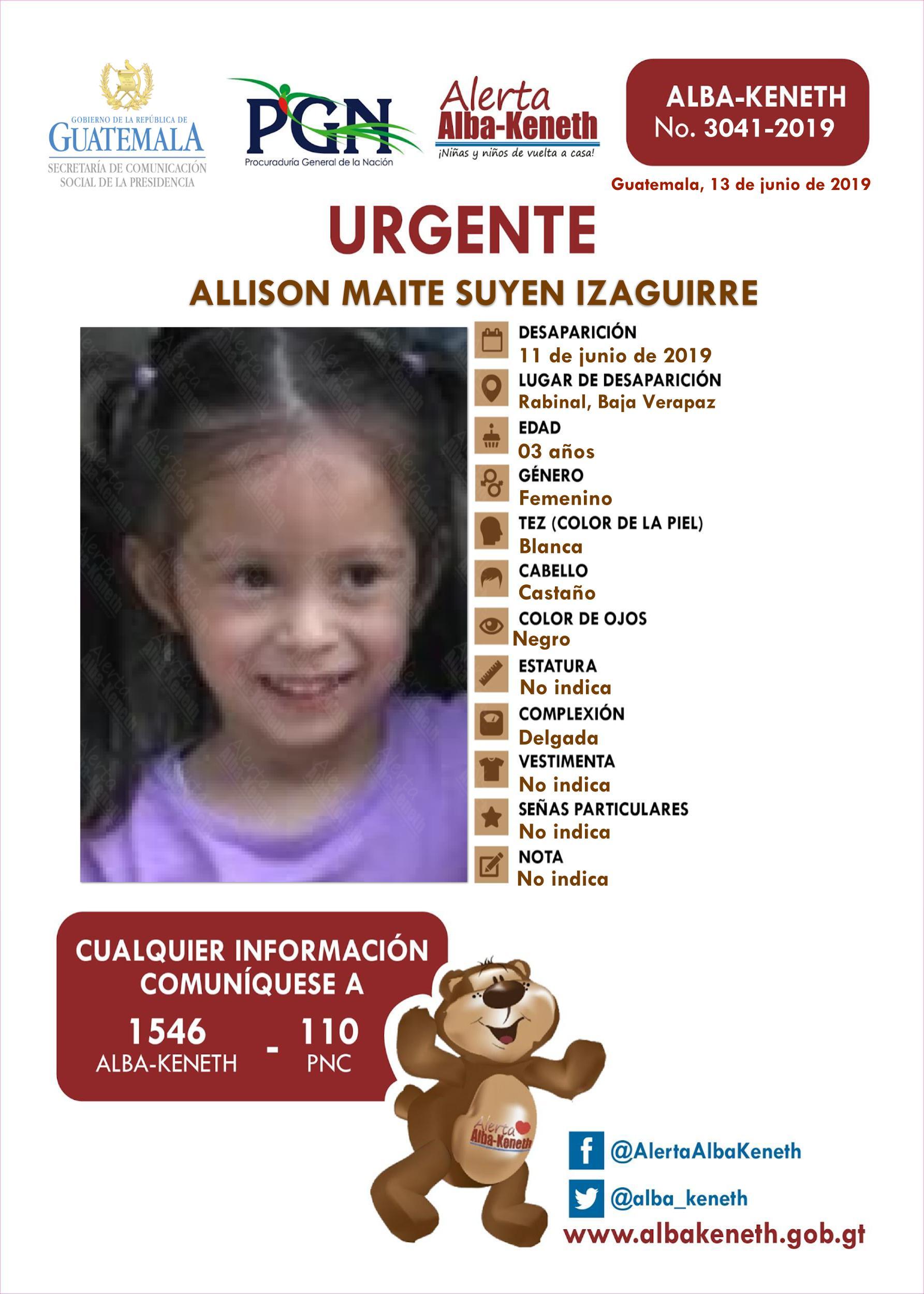 Allison Maite Suyen Izaguirre