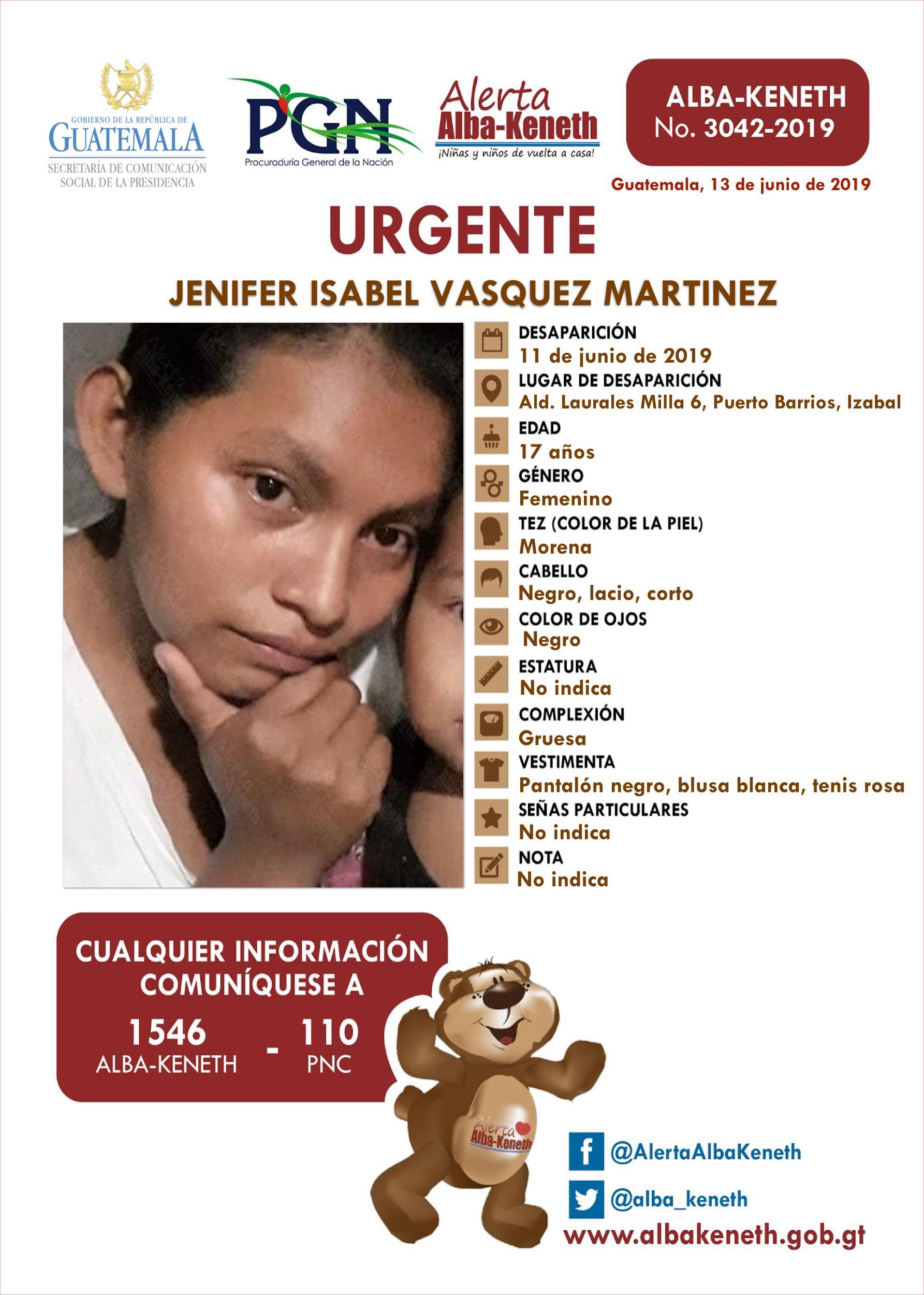 Jenifer Isabel Vasquez Martinez