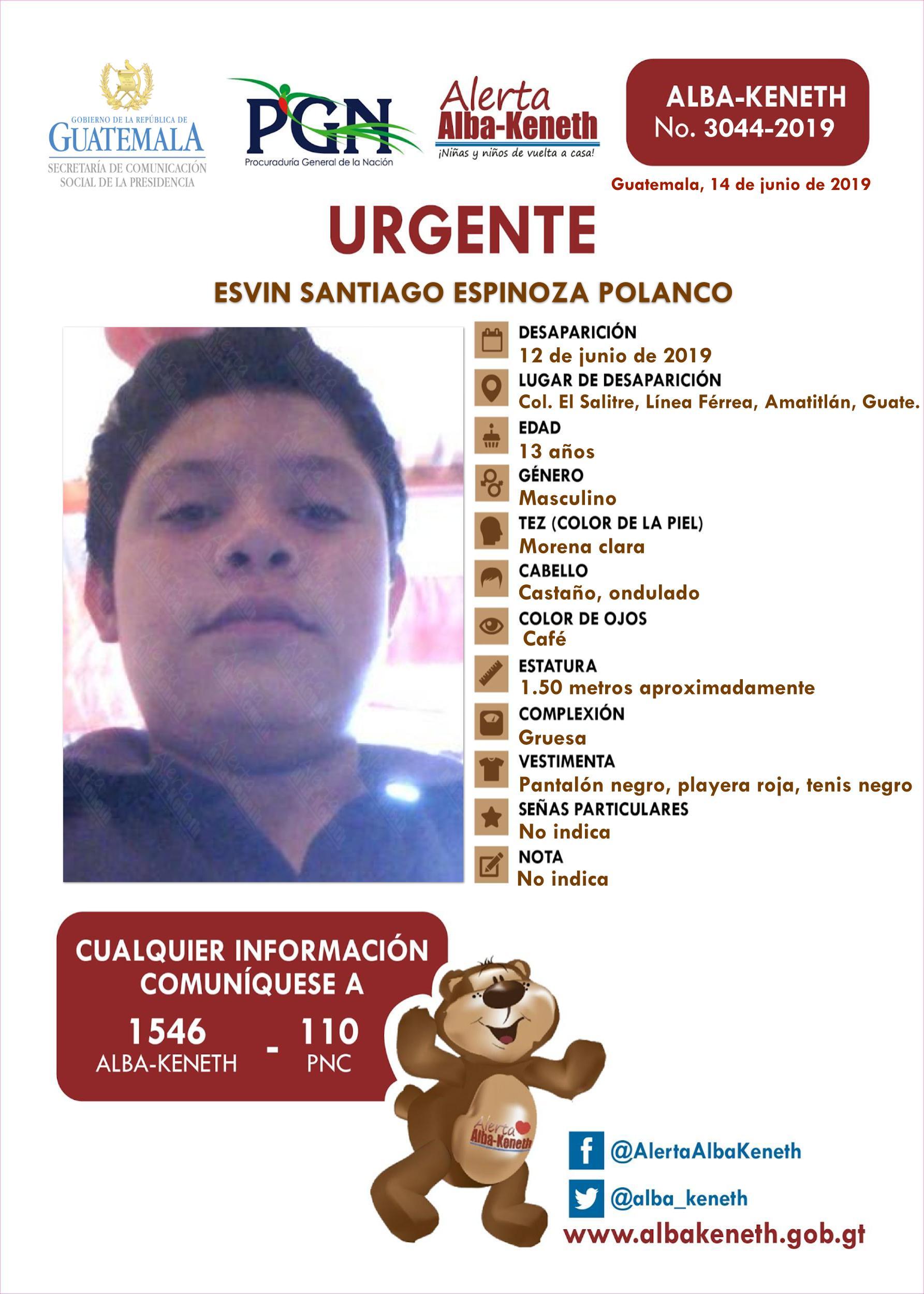 Esvin Santiago Espinoza Polanco