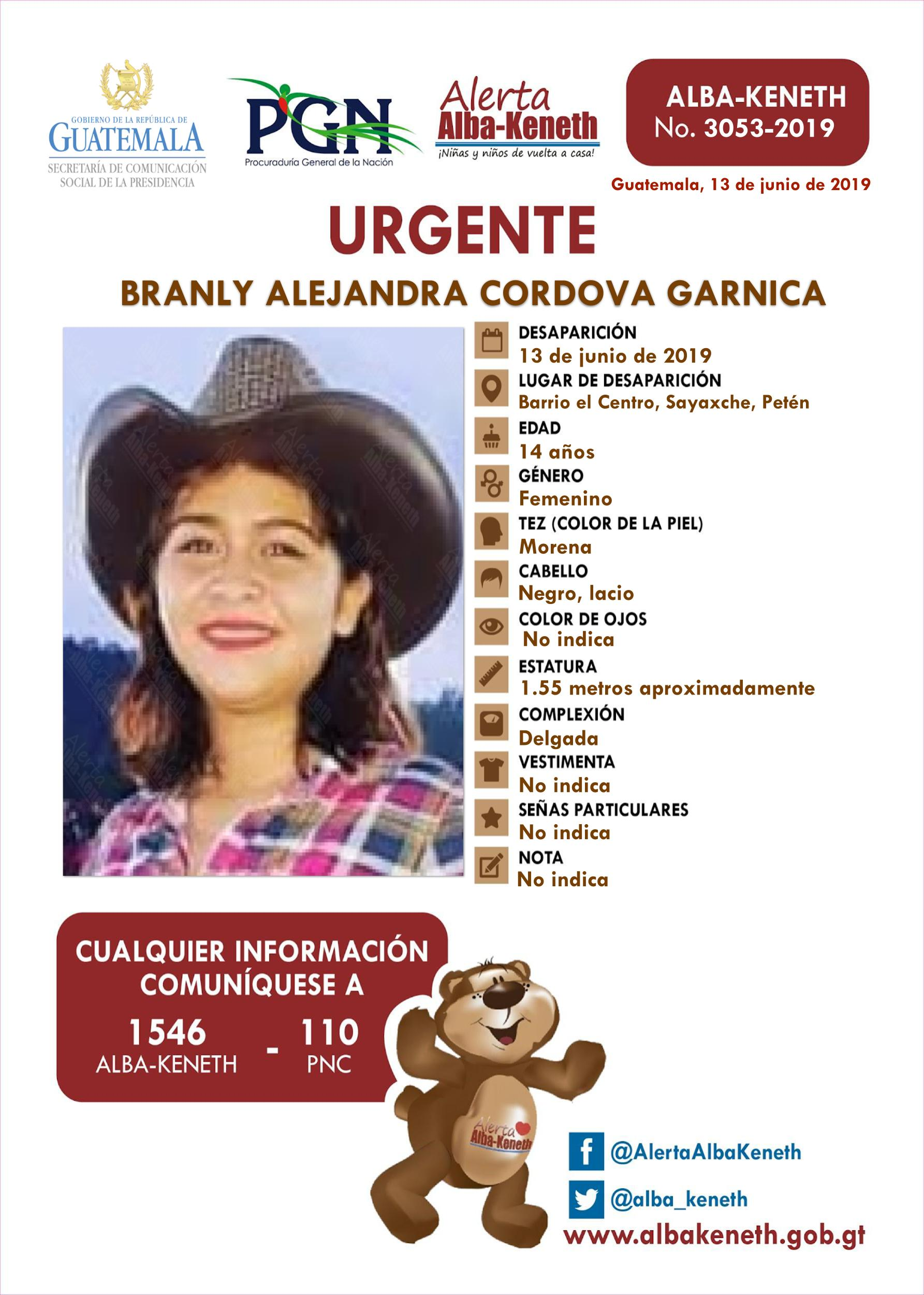 Branly Alejandra Cordova Garnica