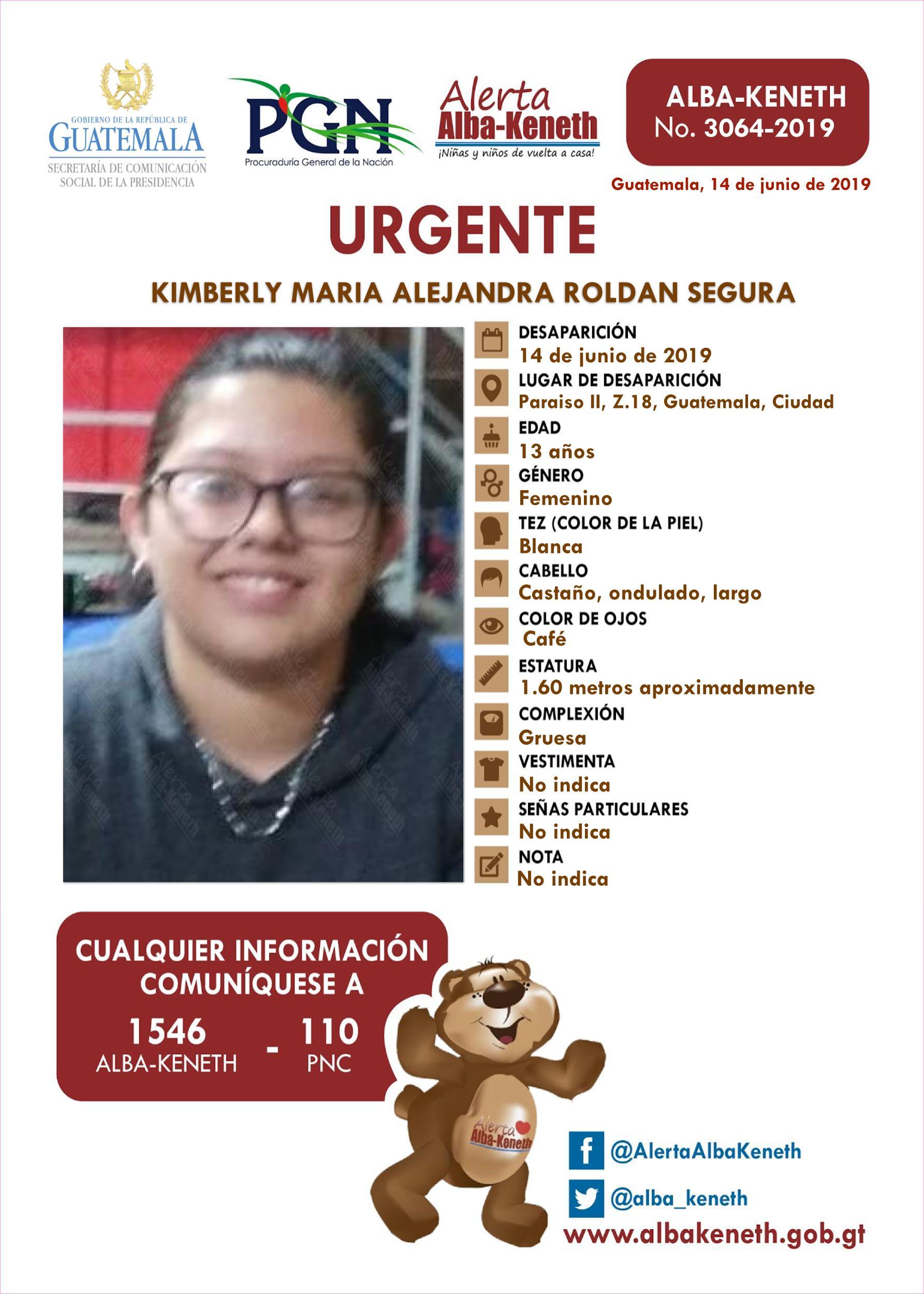 Kimberly Maria Alejandra Roldan Segura