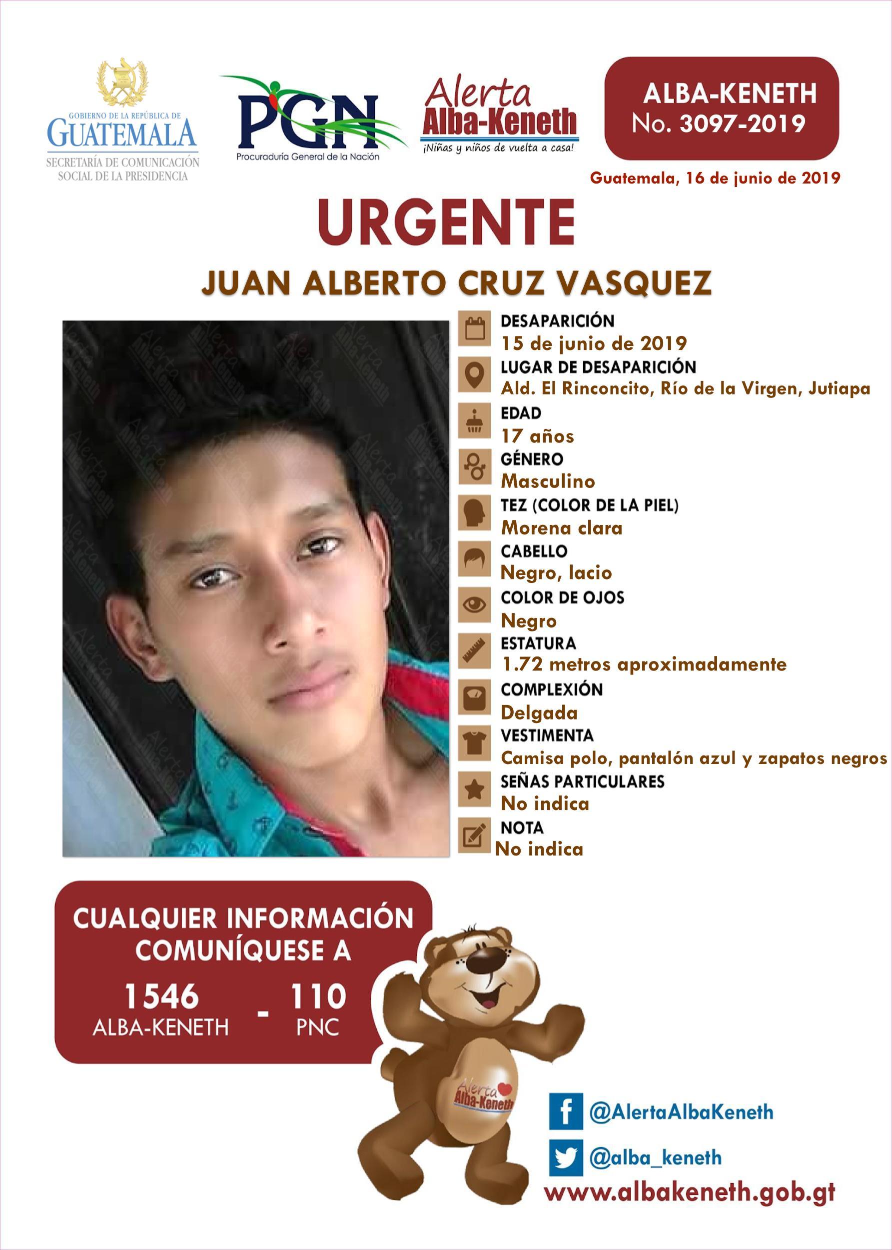 Juan Alberto Cruz Vasquez