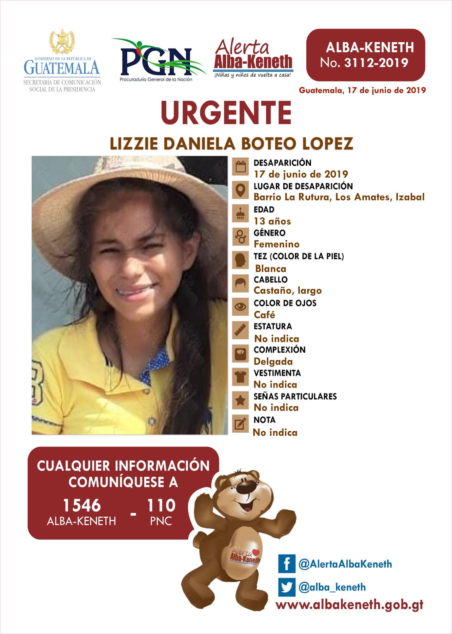Lizzie Daniela Boteo Lopez