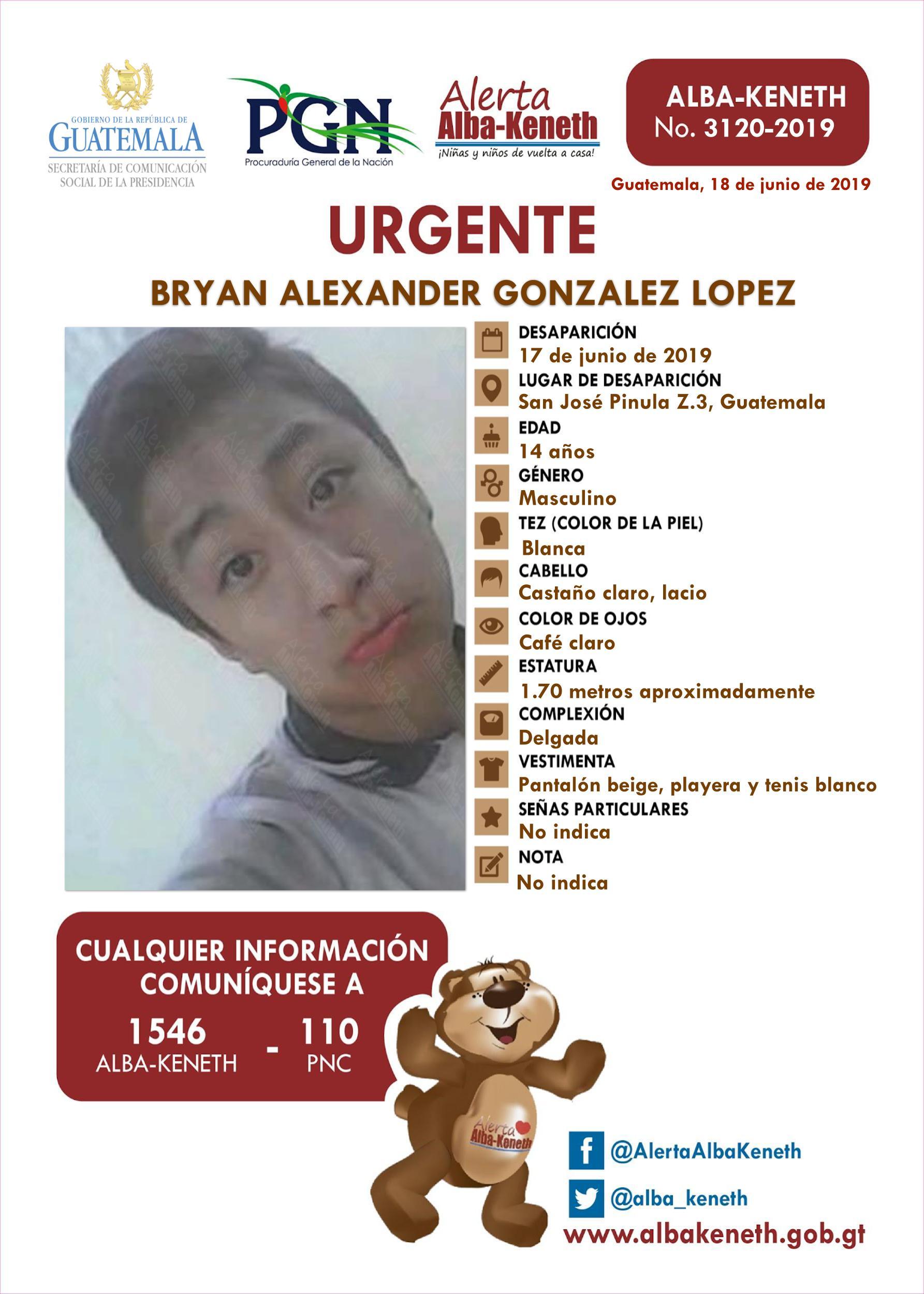Bryan Alexander Gonzalez Lopez