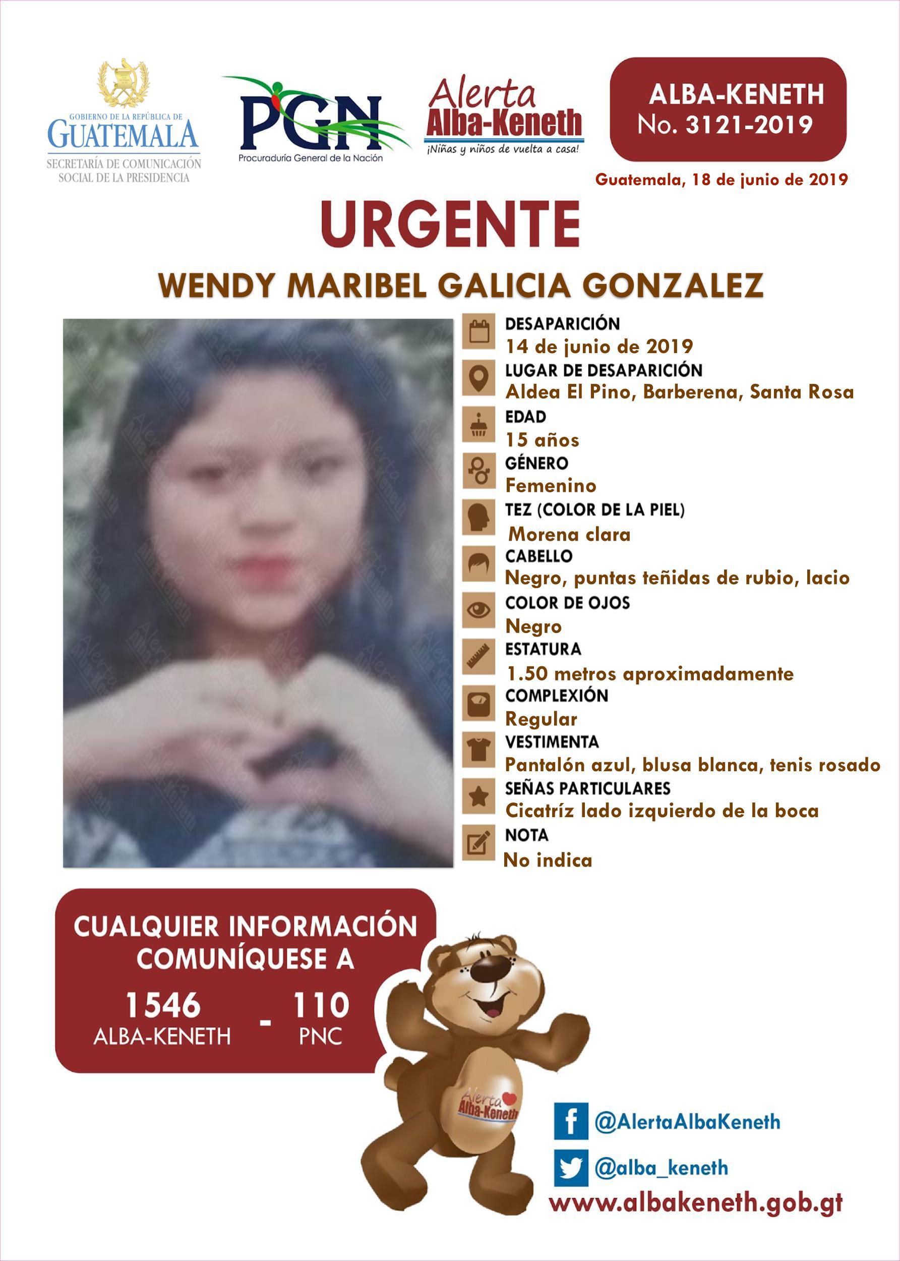 Wendy Maribel Galicia Gonzalez