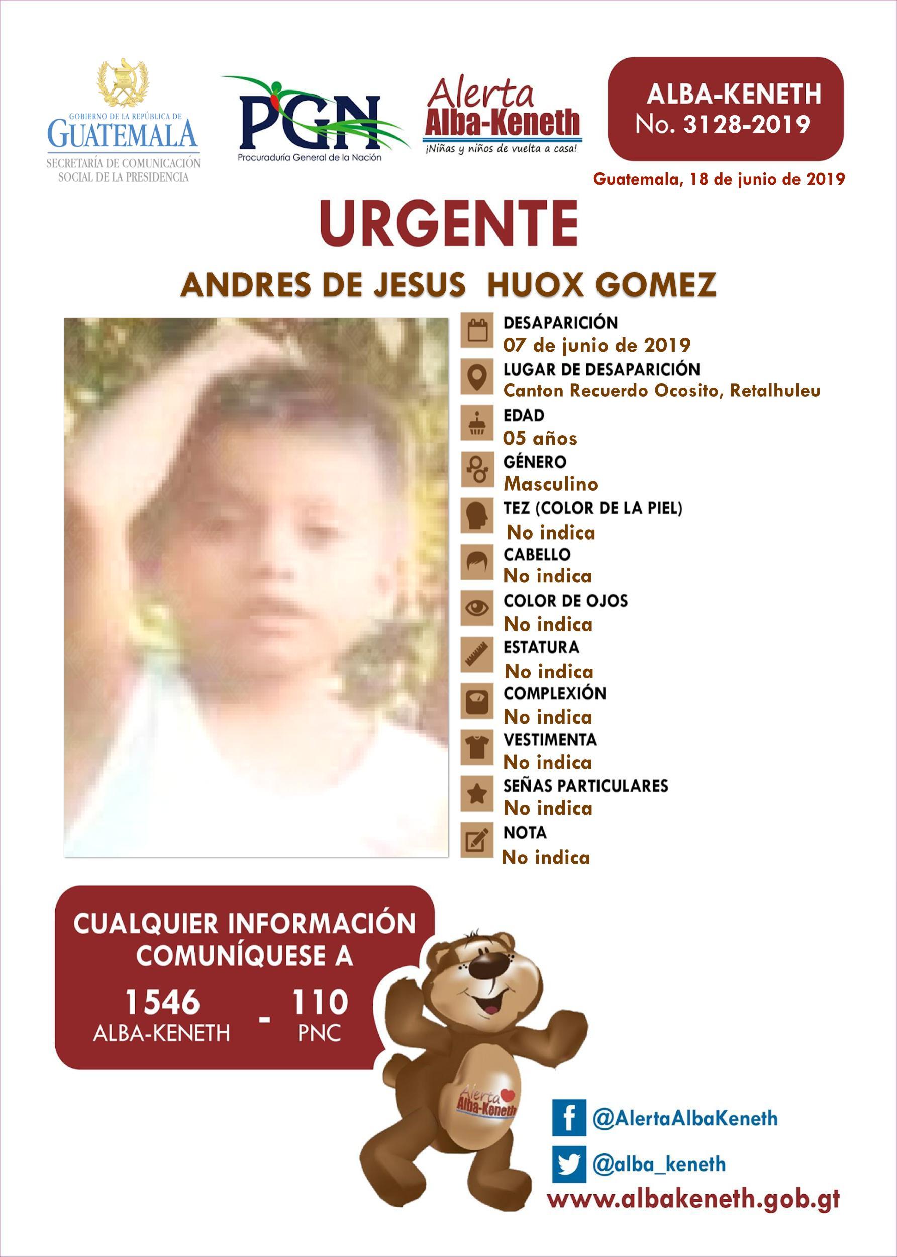 Andres de Jesus Huox Gomez