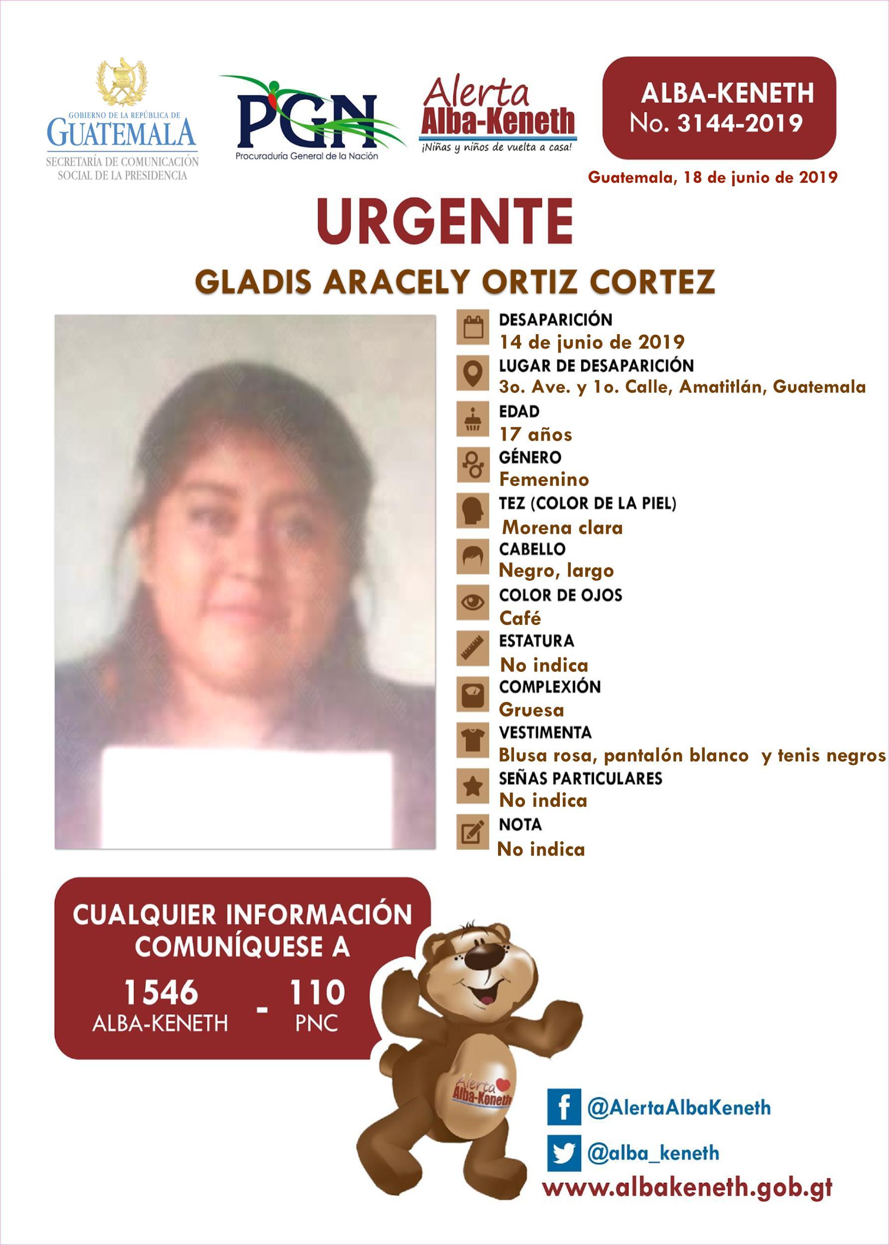Gladis Aracely Ortiz Cortez