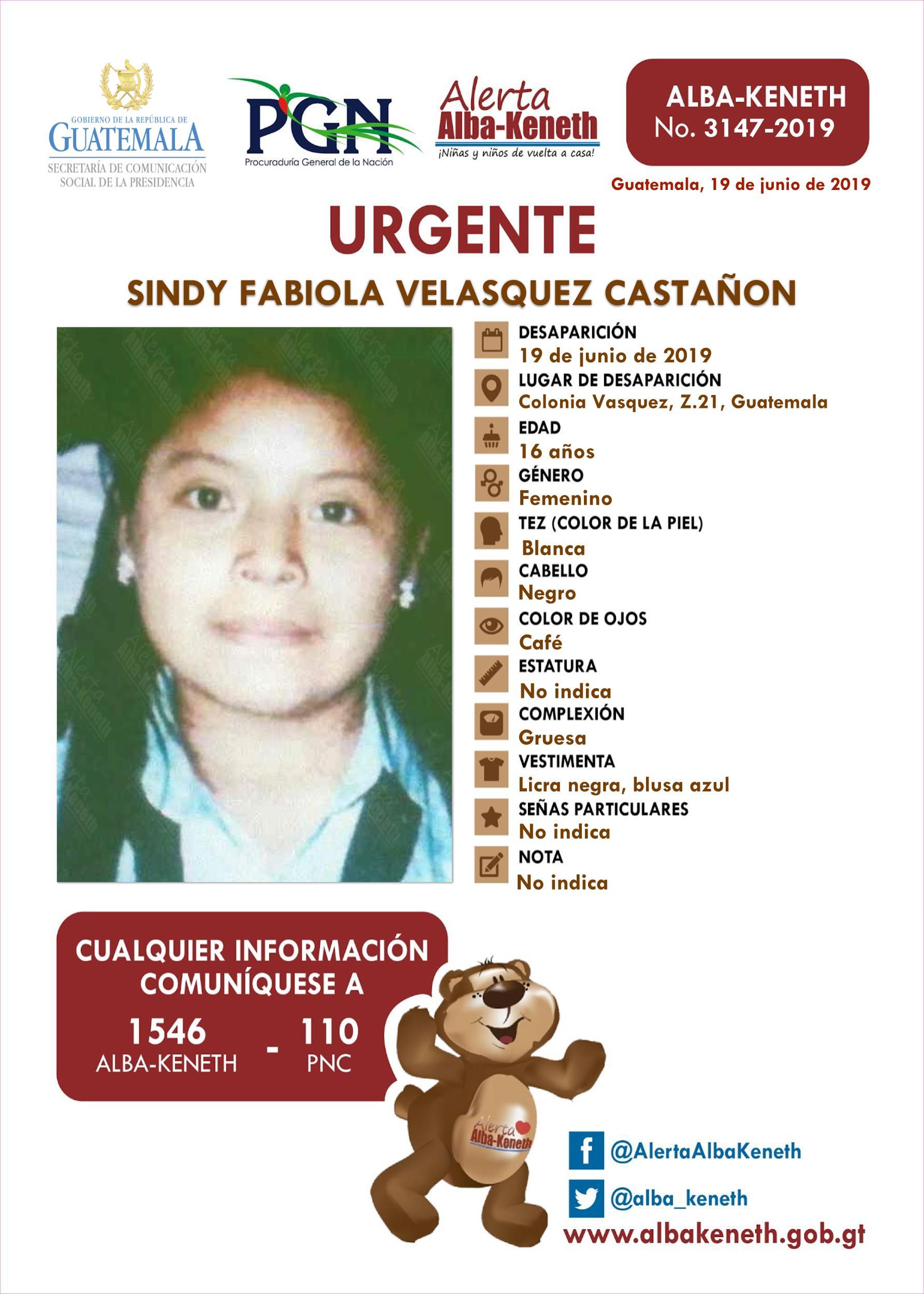 Sindy Fabiola Velasquez Castañon