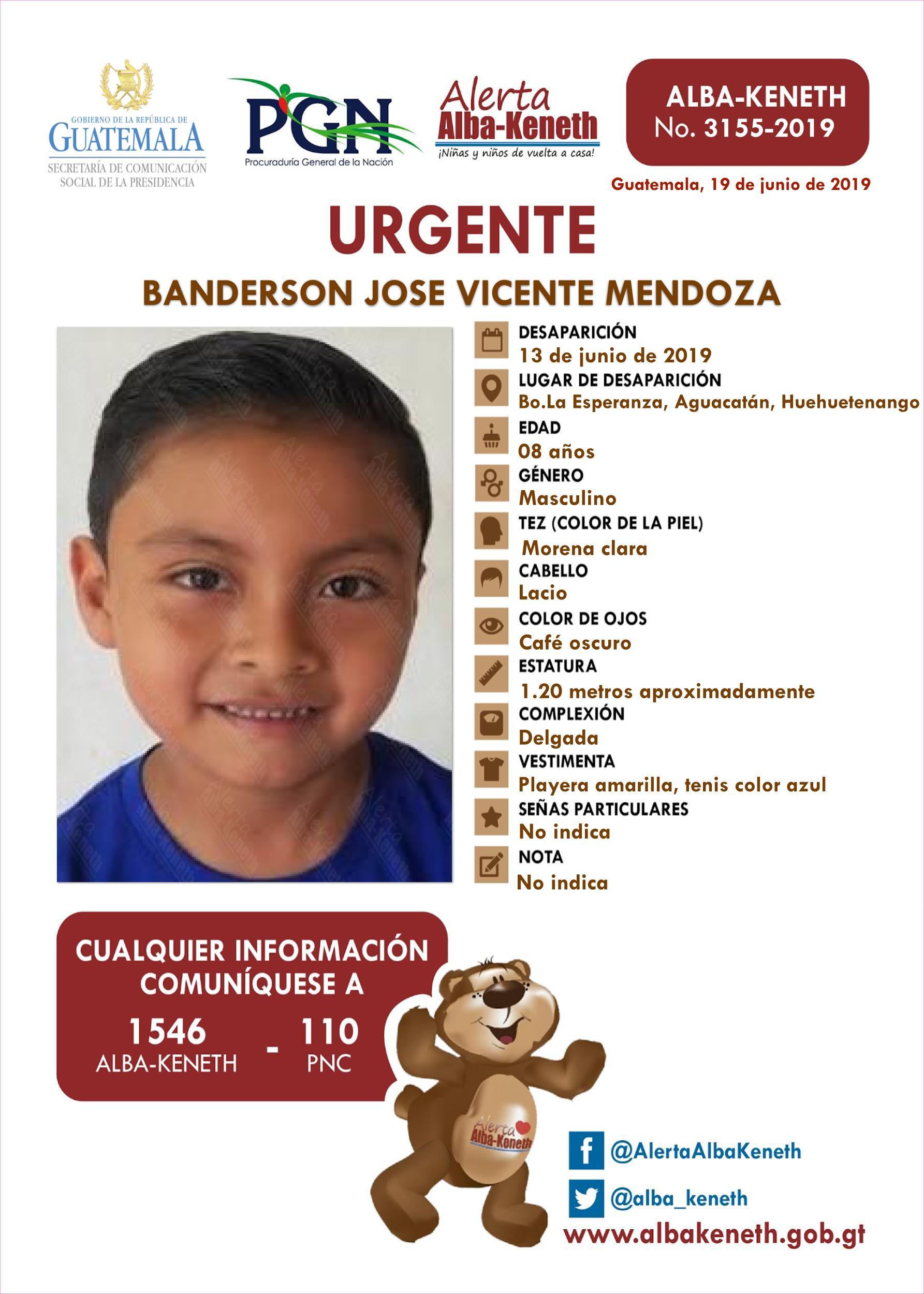 Banderson Jose Vicente Mendoza
