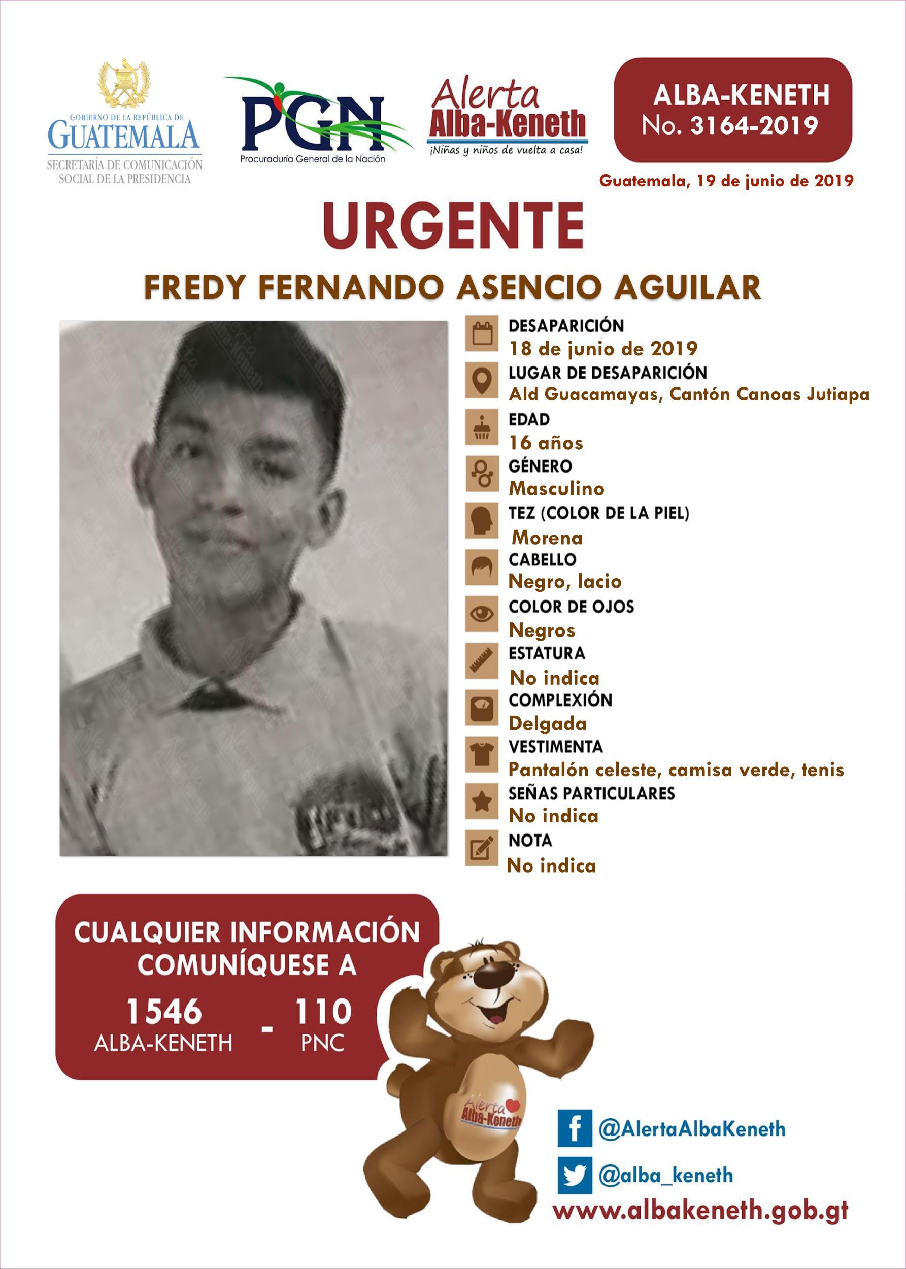 Fredy Fernando Asencio Aguilar