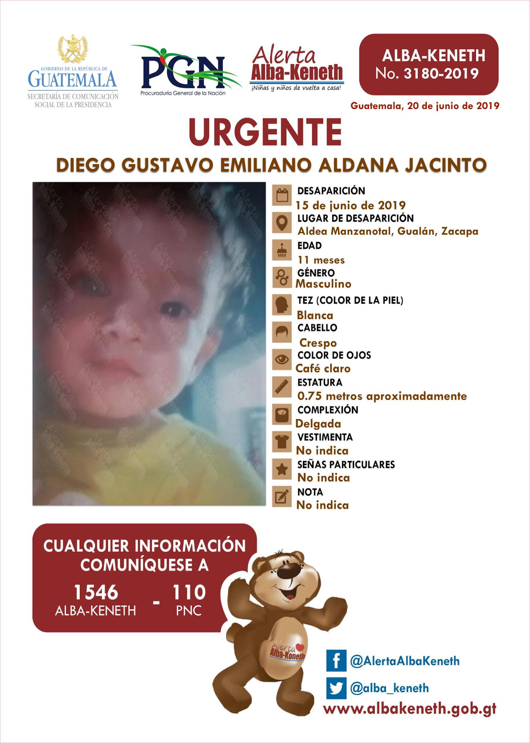 Diego Gustavo Emiliano Aldana Jacinto