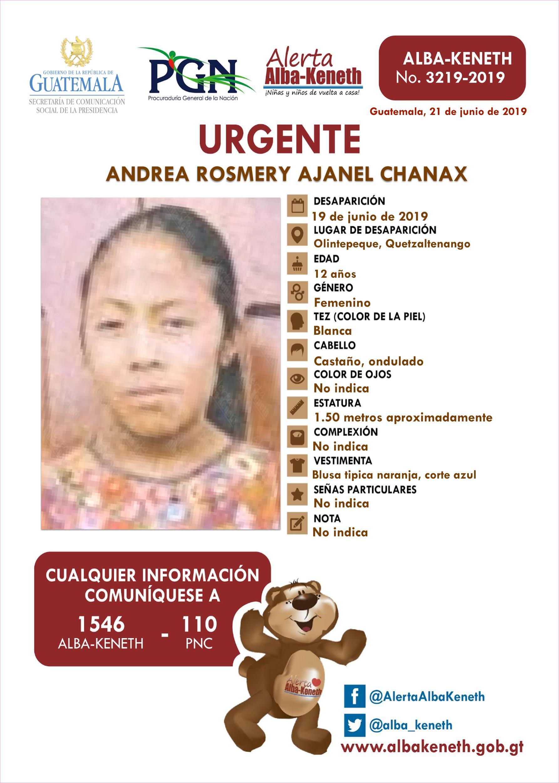Andrea Rosmery Ajanel Chanax