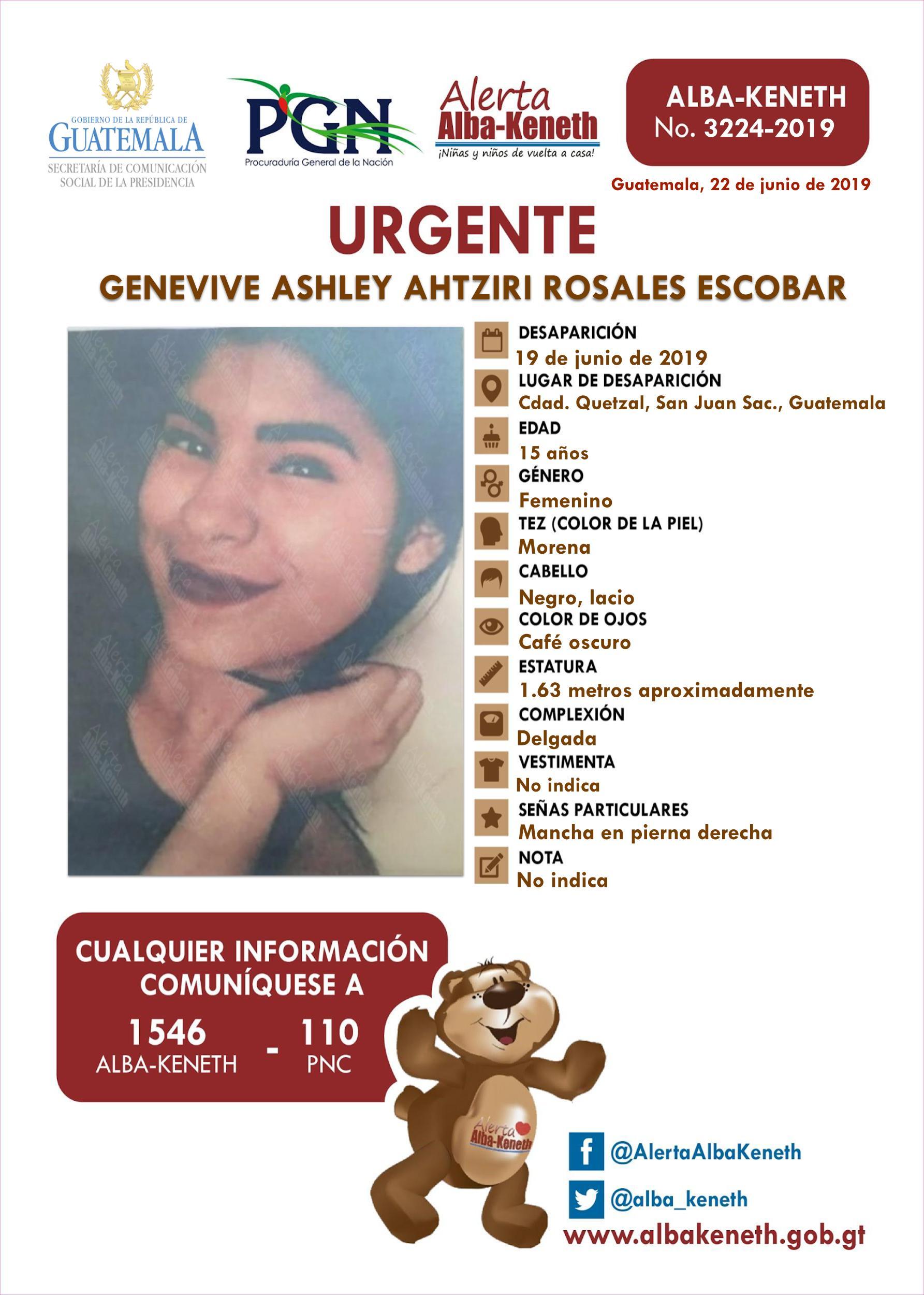 Genevive Ashley Ahtziri Rosales Escobar