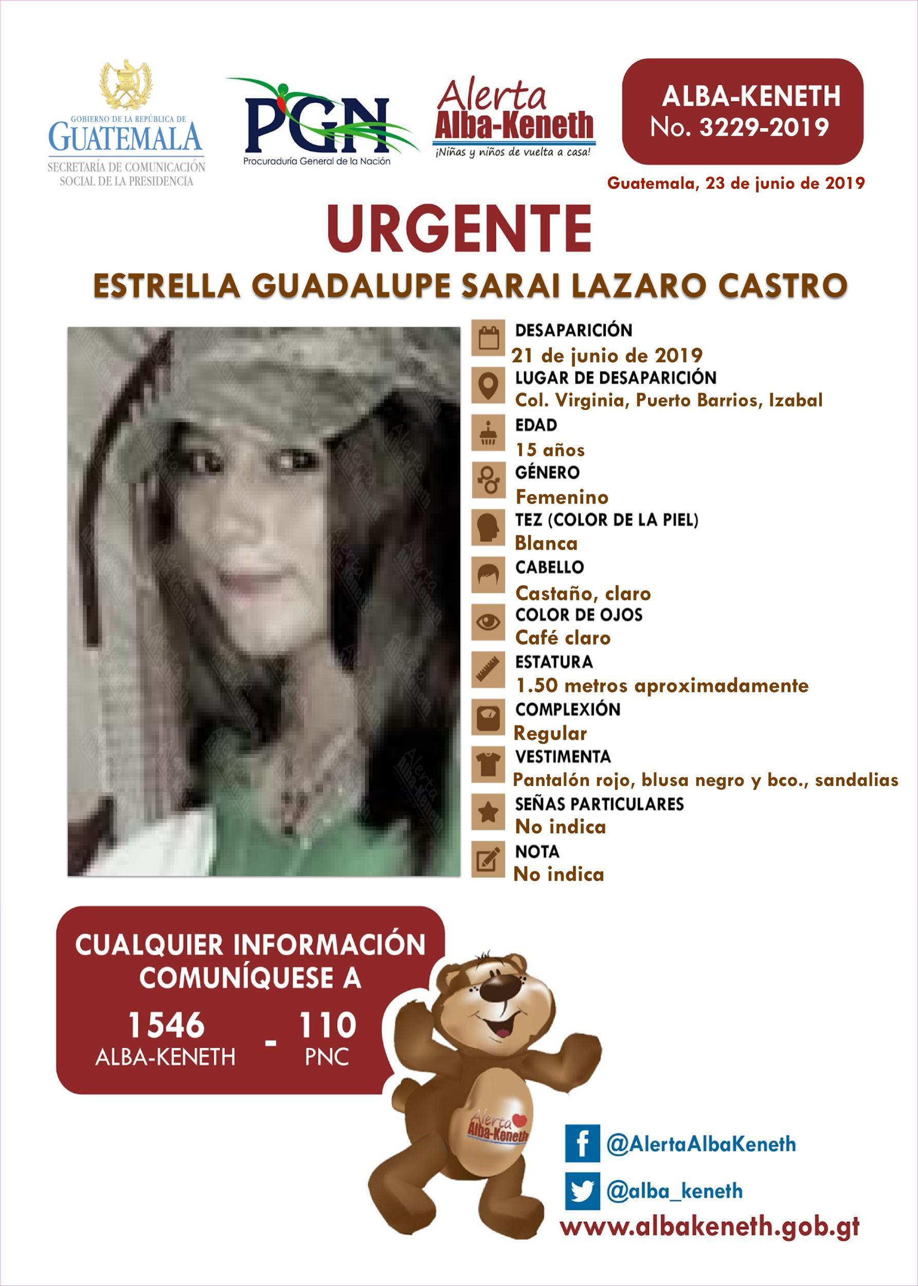 Estrella Guadalupe Sarai Lazaro Castro
