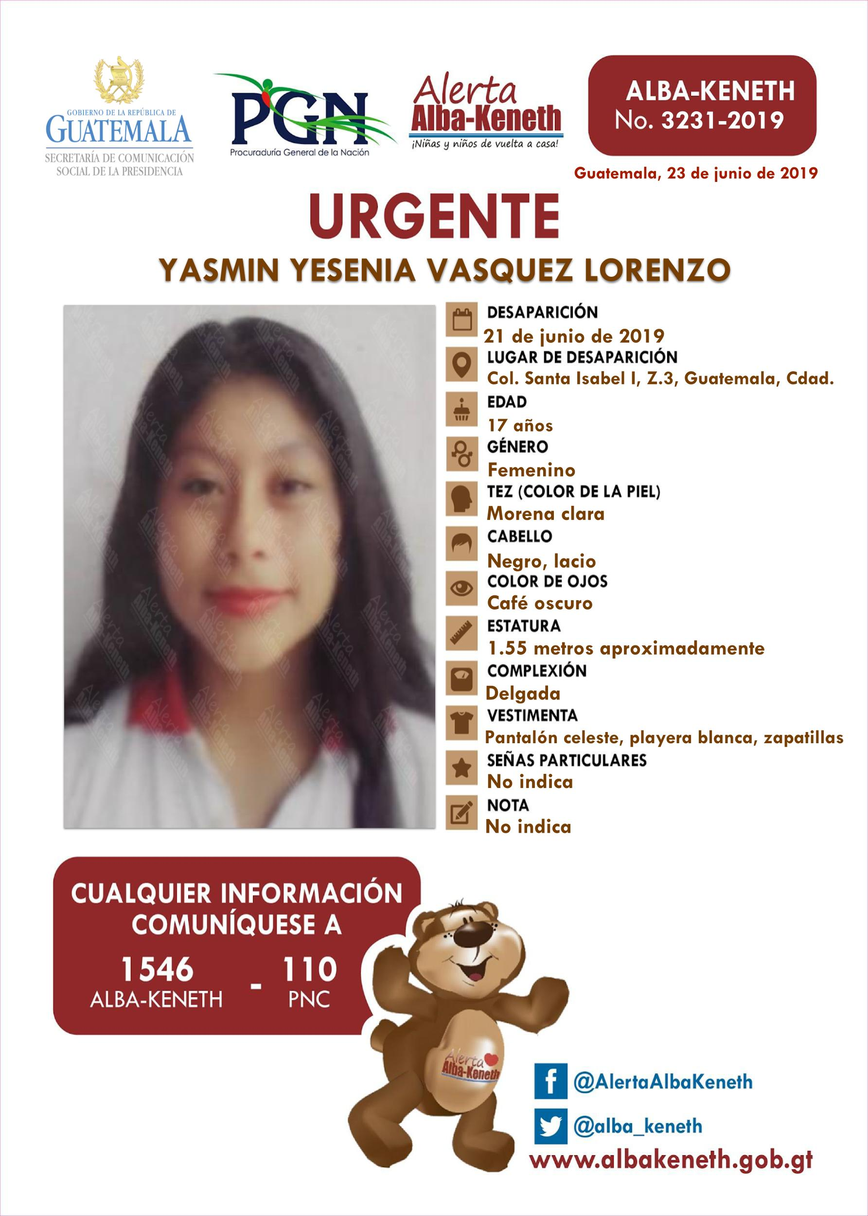 Yasmin Yesenia Vasquez Lorenzo