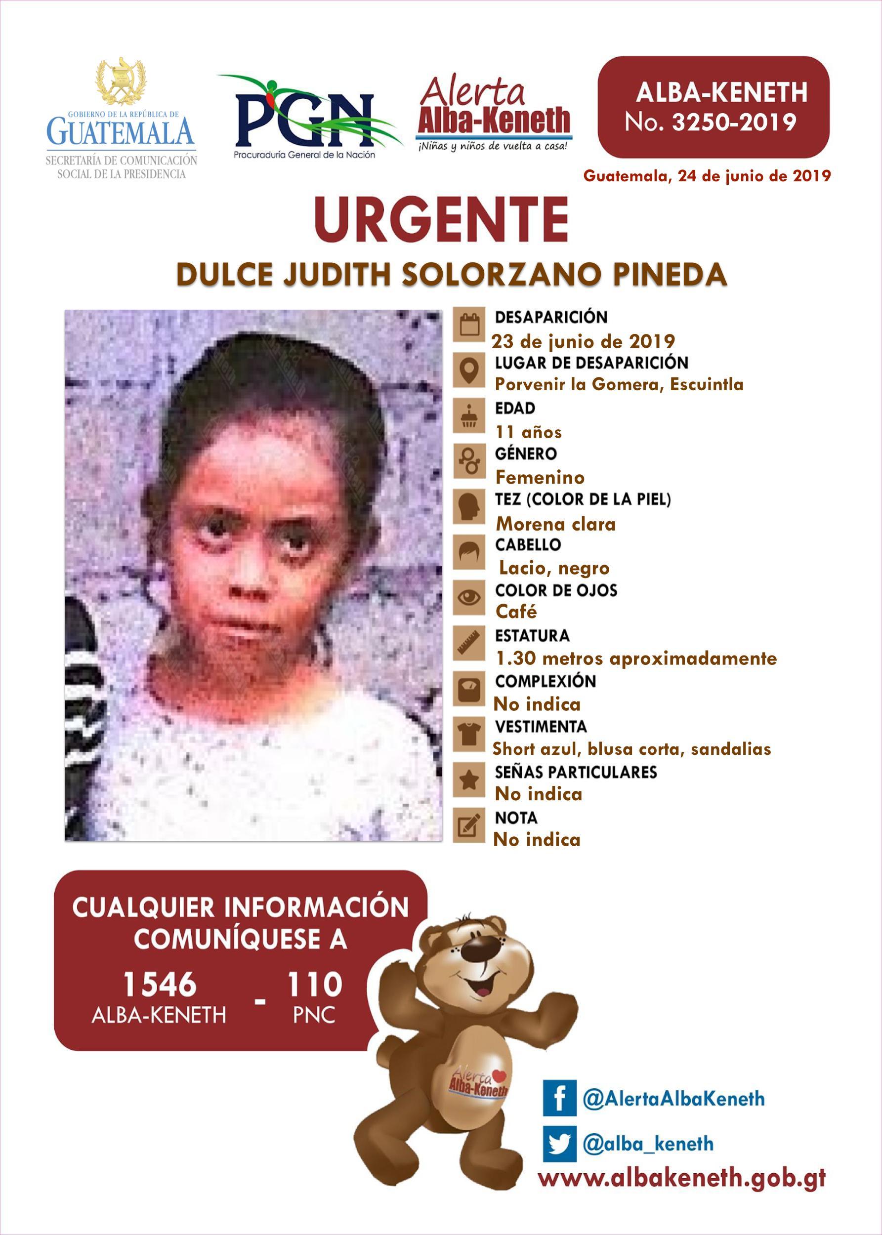 Dulce Judith Solorzano Pineda