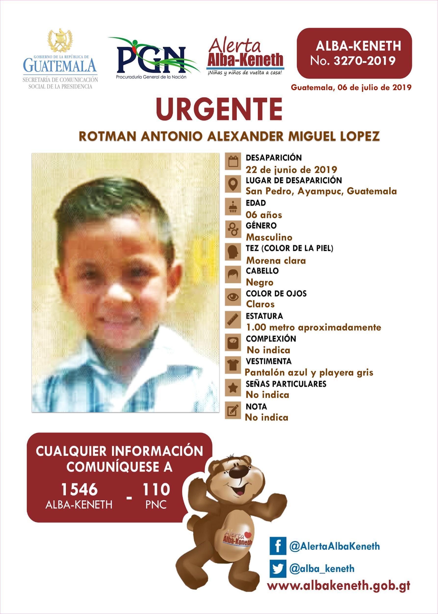Rotman Antonio Alexander Miguel Lopez