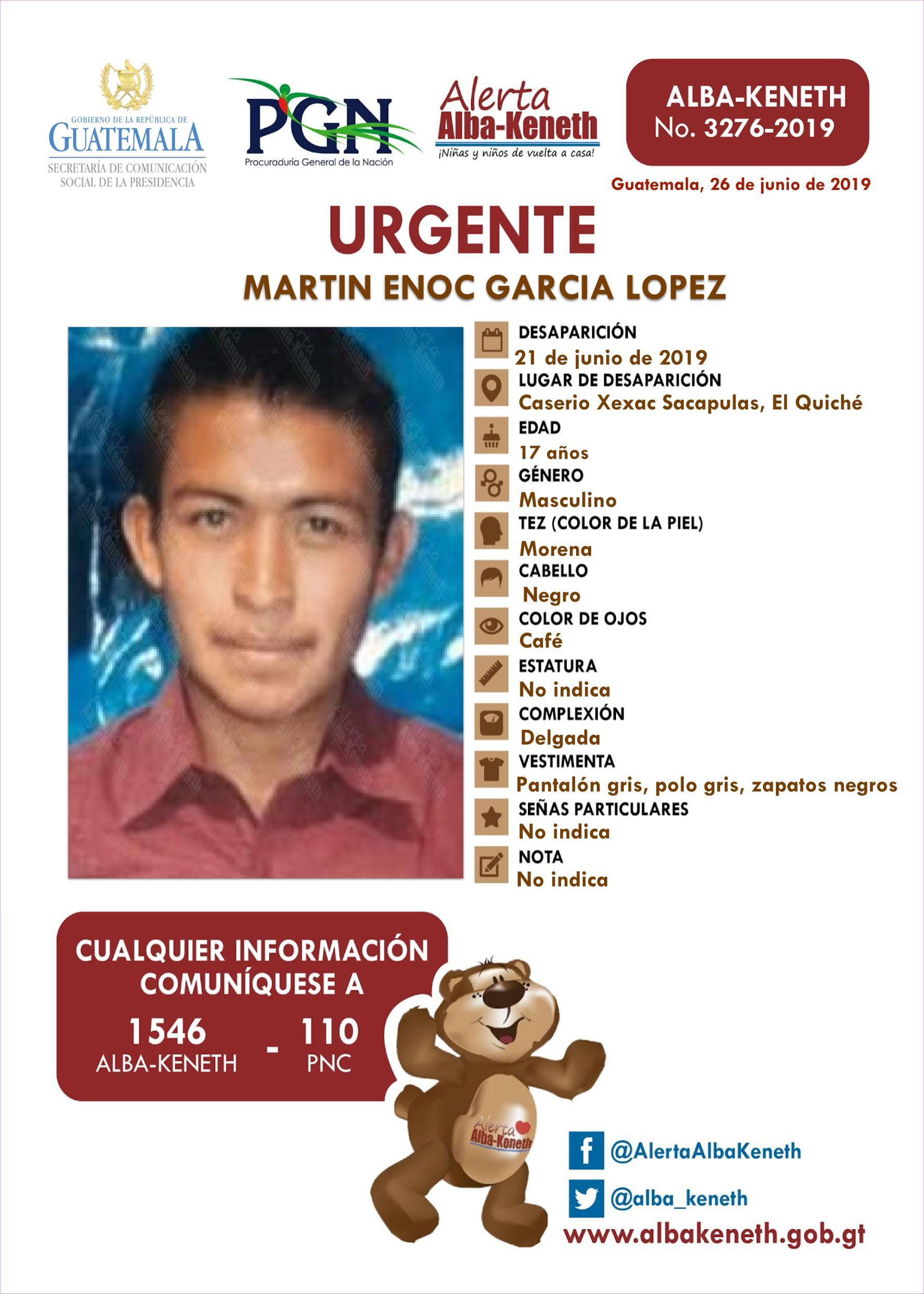 Martin Enoc Garcia Lopez