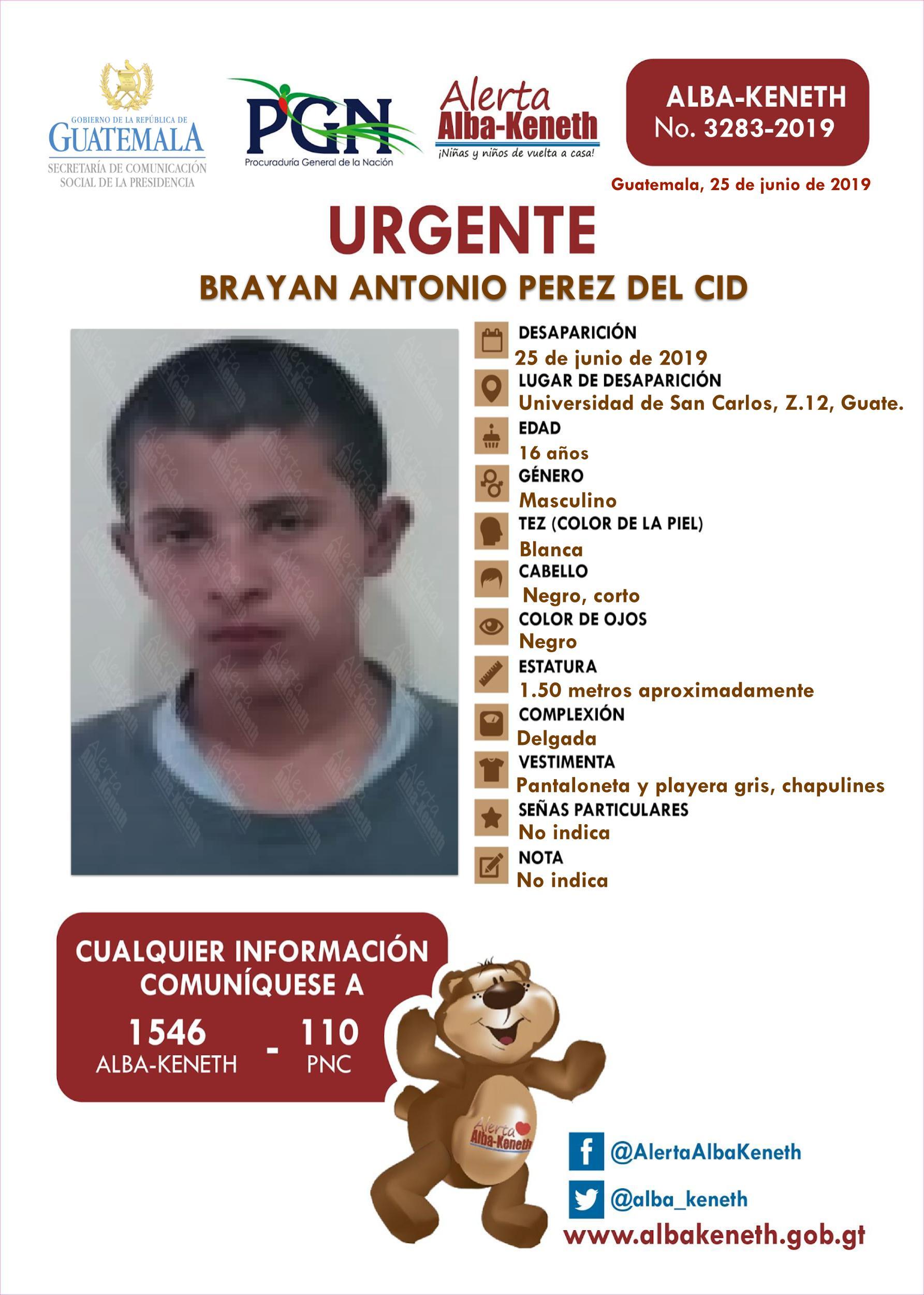 Brayan Antonio Perez del Cid