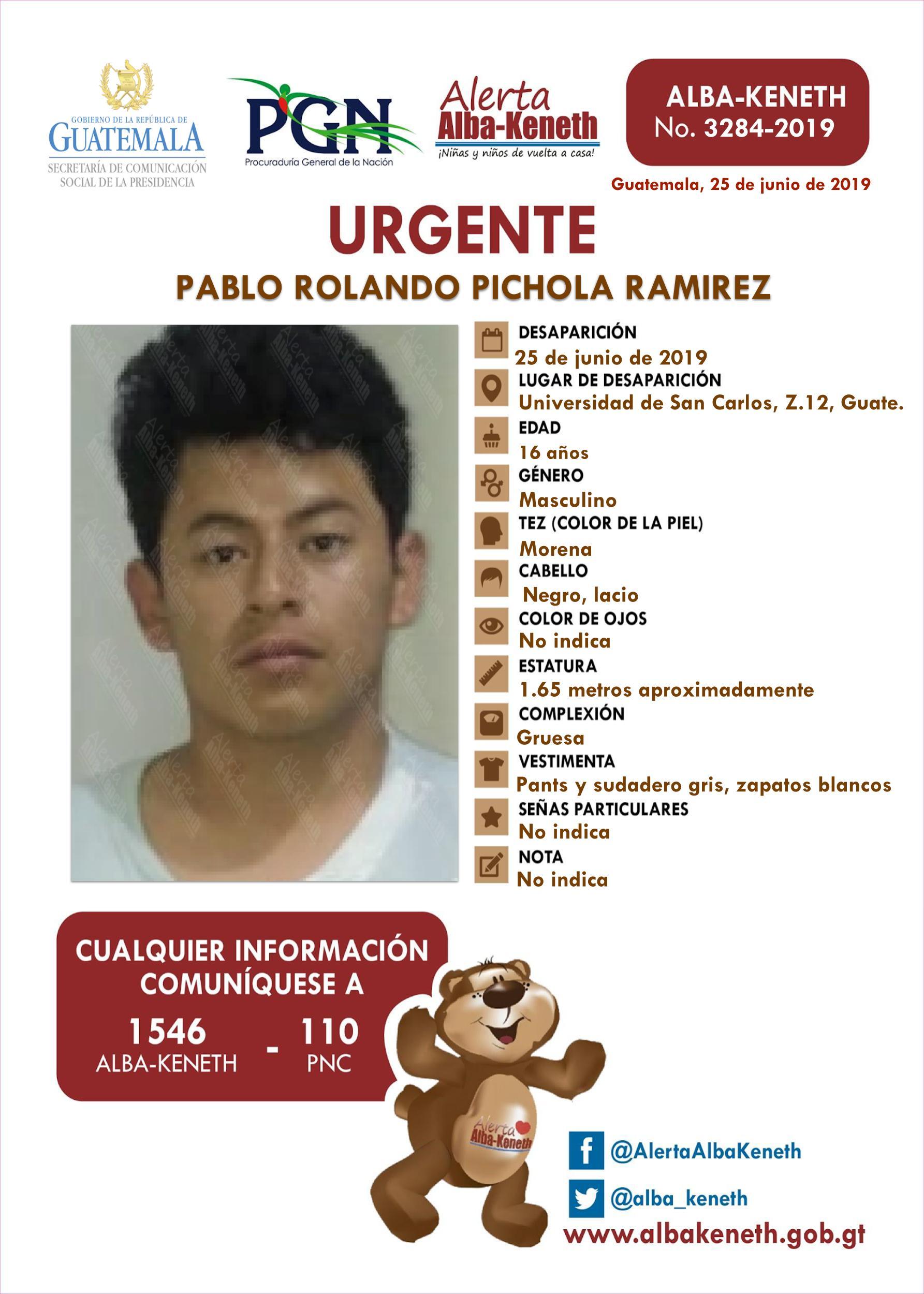 Pablo Rolando Pichola Ramirez