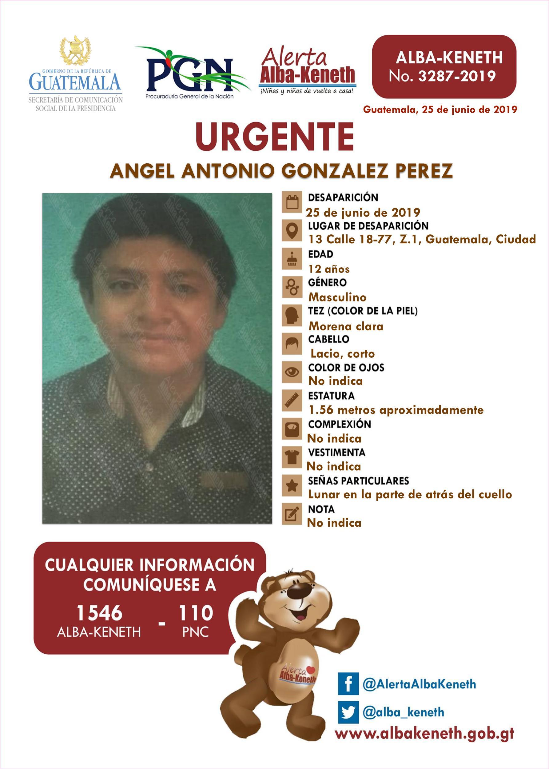 Angel Antonio Gonzalez Perez