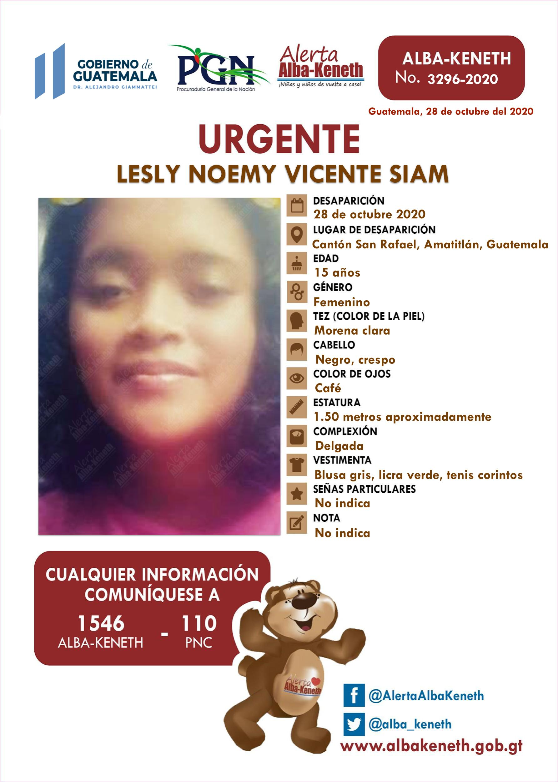 Lesly Noemy Vicente Siam