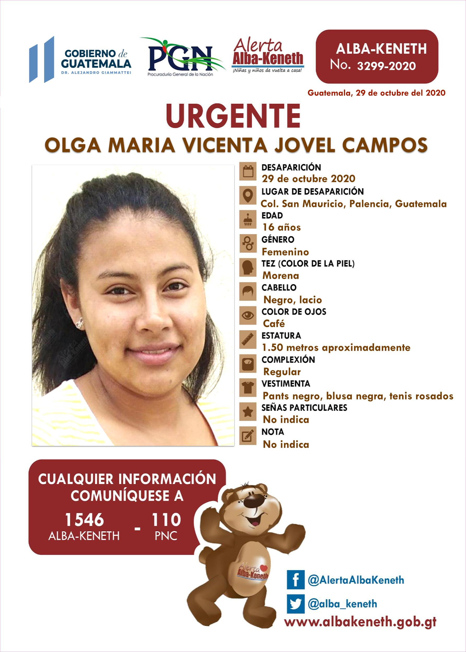 Olga Maria Vicenta Jovel Campos