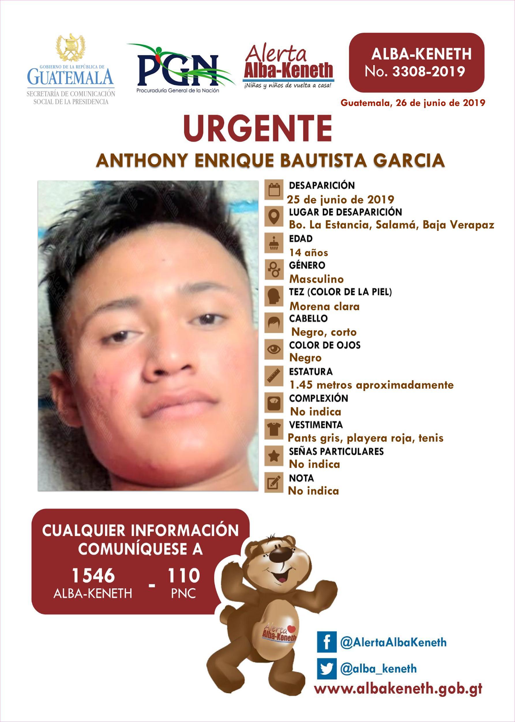 Anthony Enrique Bautista Garcia