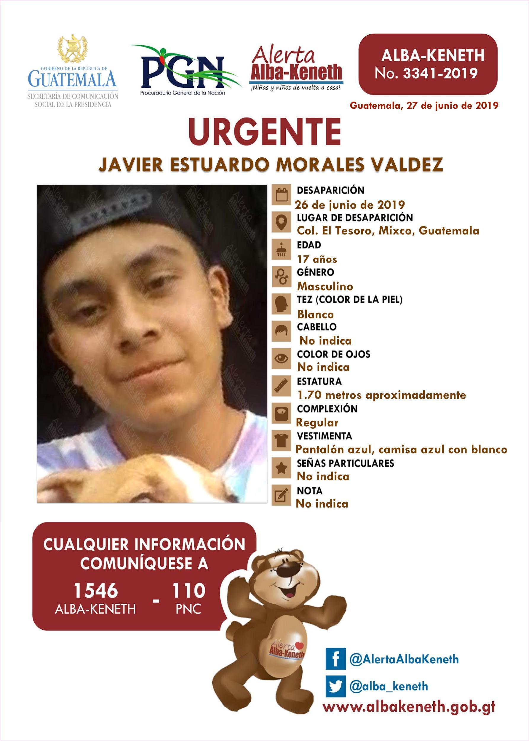 Javier Estuardo Morales Valdez