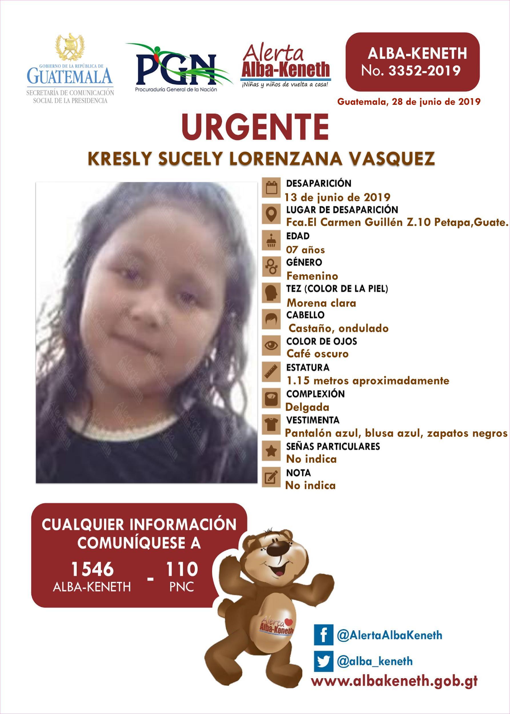 Kresly Sucely Lorenzana Vasquez