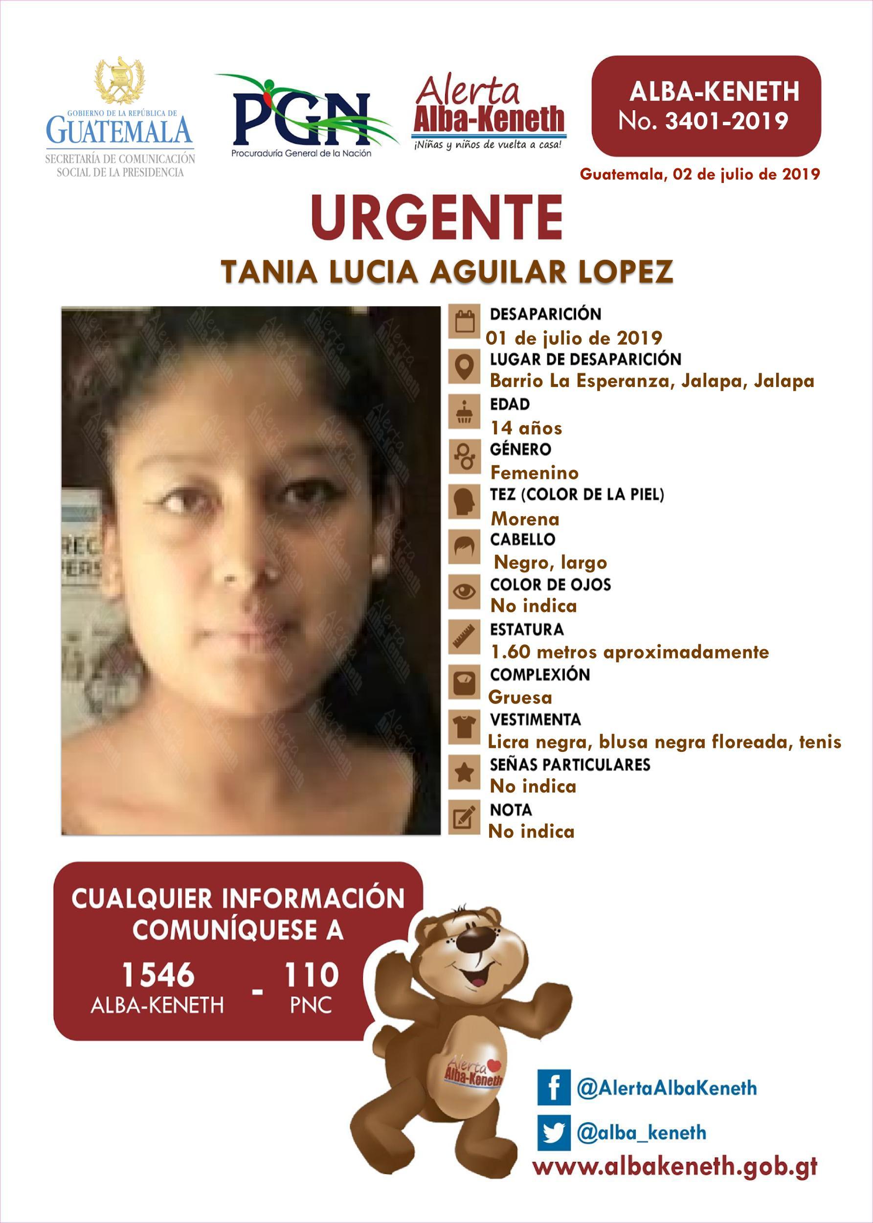 Tania Lucia Aguilar Lopez